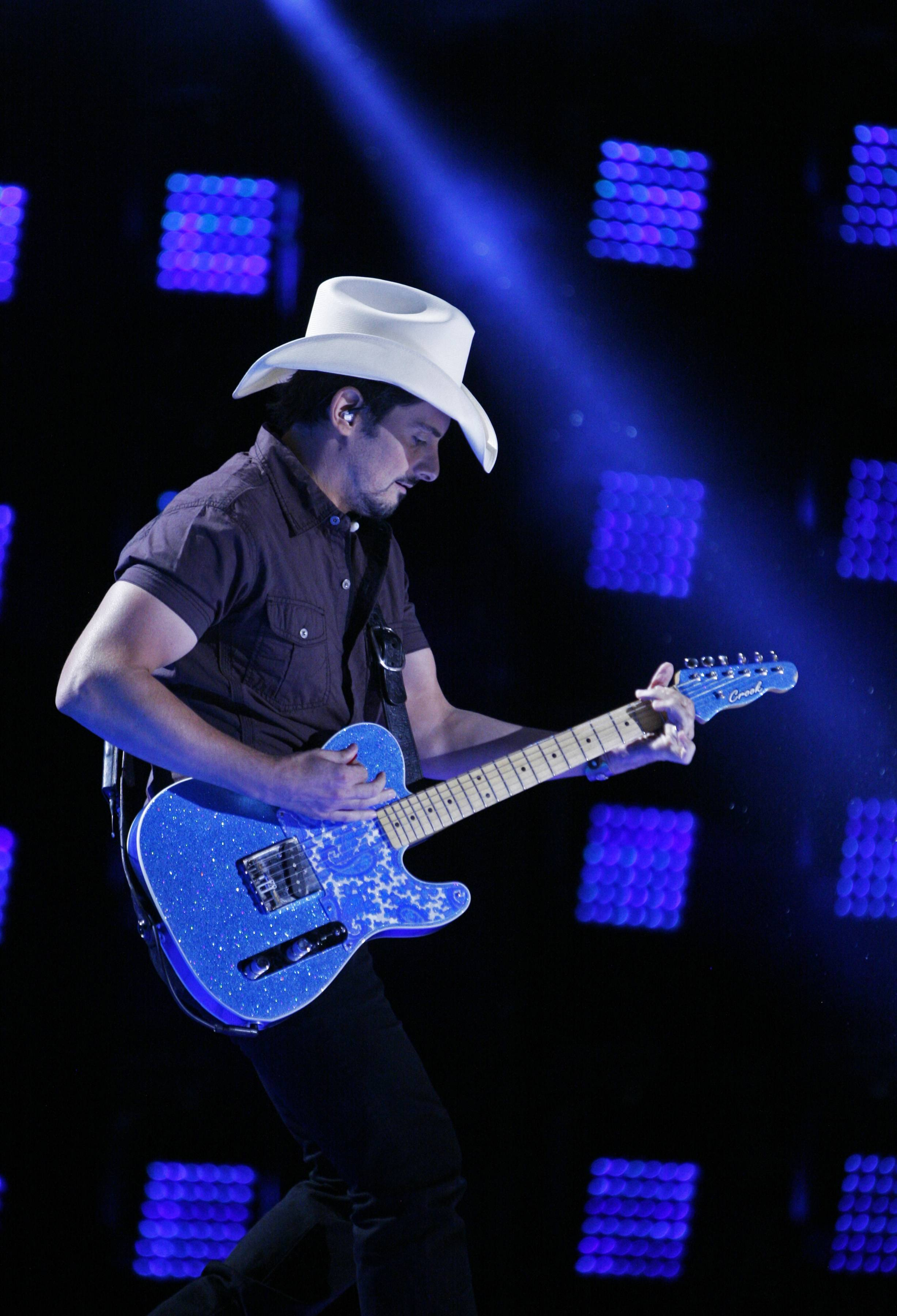 "Brad Paisley has a new singing contest show, ""Rising Star,"" that begins this month."