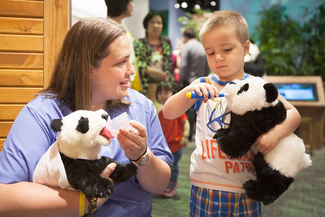 "The ""Take Me There: China"" exhibit captures children's imaginations while they learn about Chinese culture through music, food, arts and pandas."