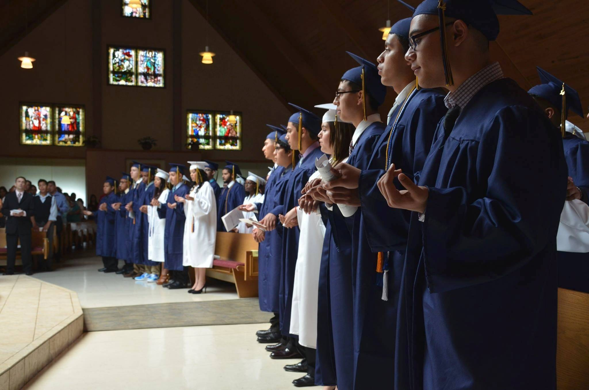 Cristo Rey St. Martin College Prep in Waukegan recently had its largest graduating class in the school's 10-year history, with 83 percent of the students who started as freshmen graduating.