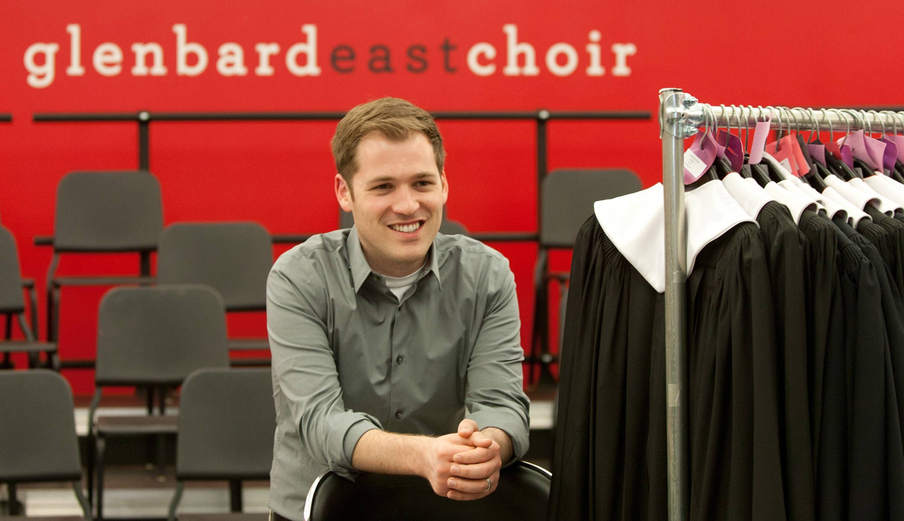 "Glenbard East Choir Director Brandon Catt says his role ""is to help students reach their full potential in life, and I get to use music as my tool to do that."""