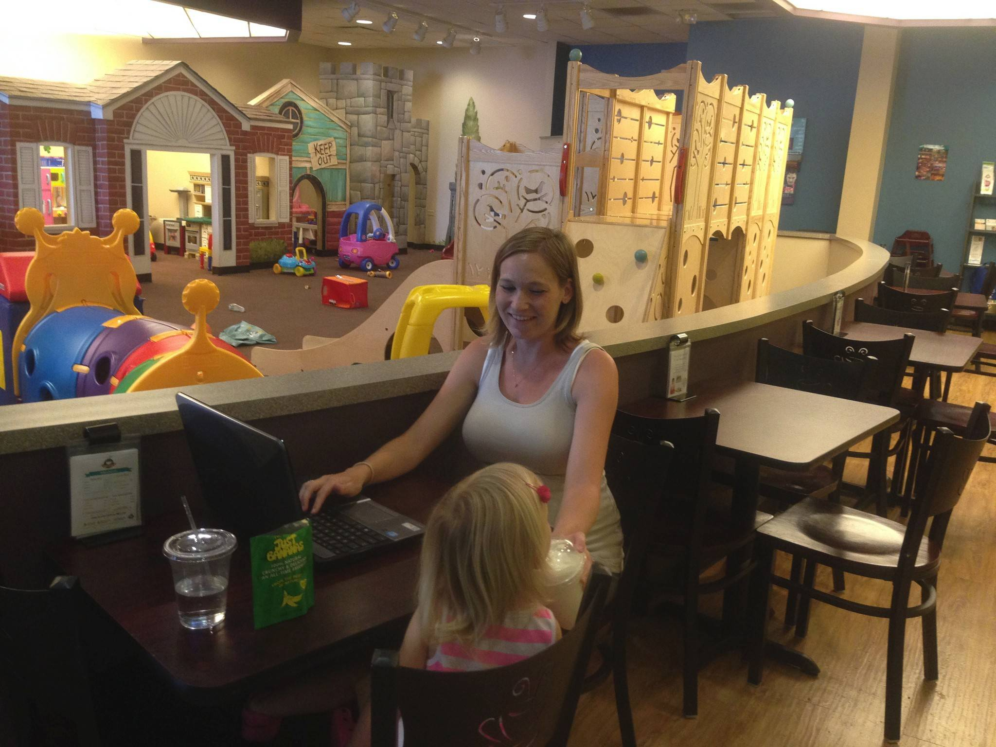 Jennifer Kowalski of Bolingbrook enjoys visiting Cafe N Play in Naperville with her daughter, Brenna.
