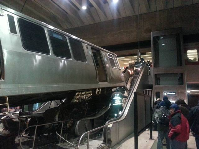 Courtesy of Milka Overton A crash where a CTA train zoomed onto an escalator at the O'Hare Station in March has national consequences in terms of safety checks.