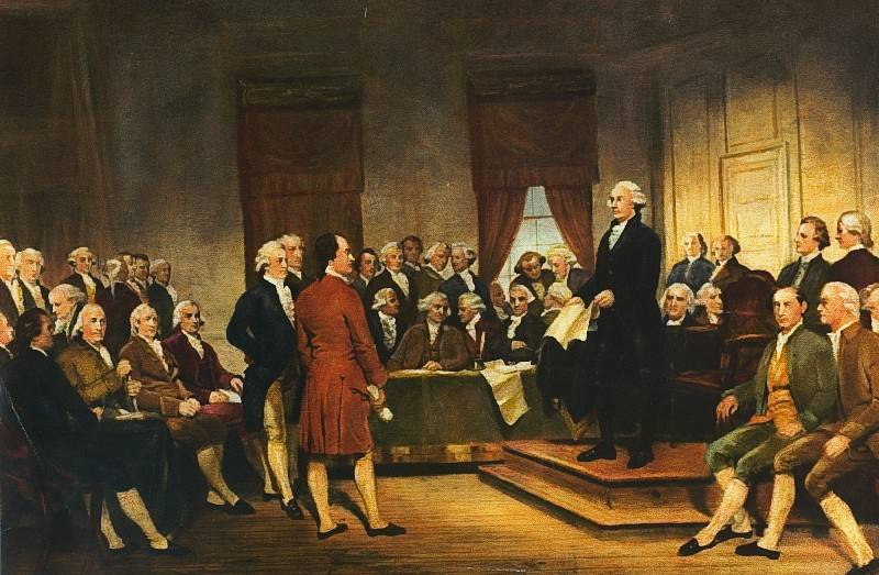 Founding fathers hammered out the first constitution in Philadelphia in 1787.