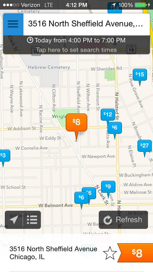 Chicago-based SpotHero app helps drivers find parking in the city.
