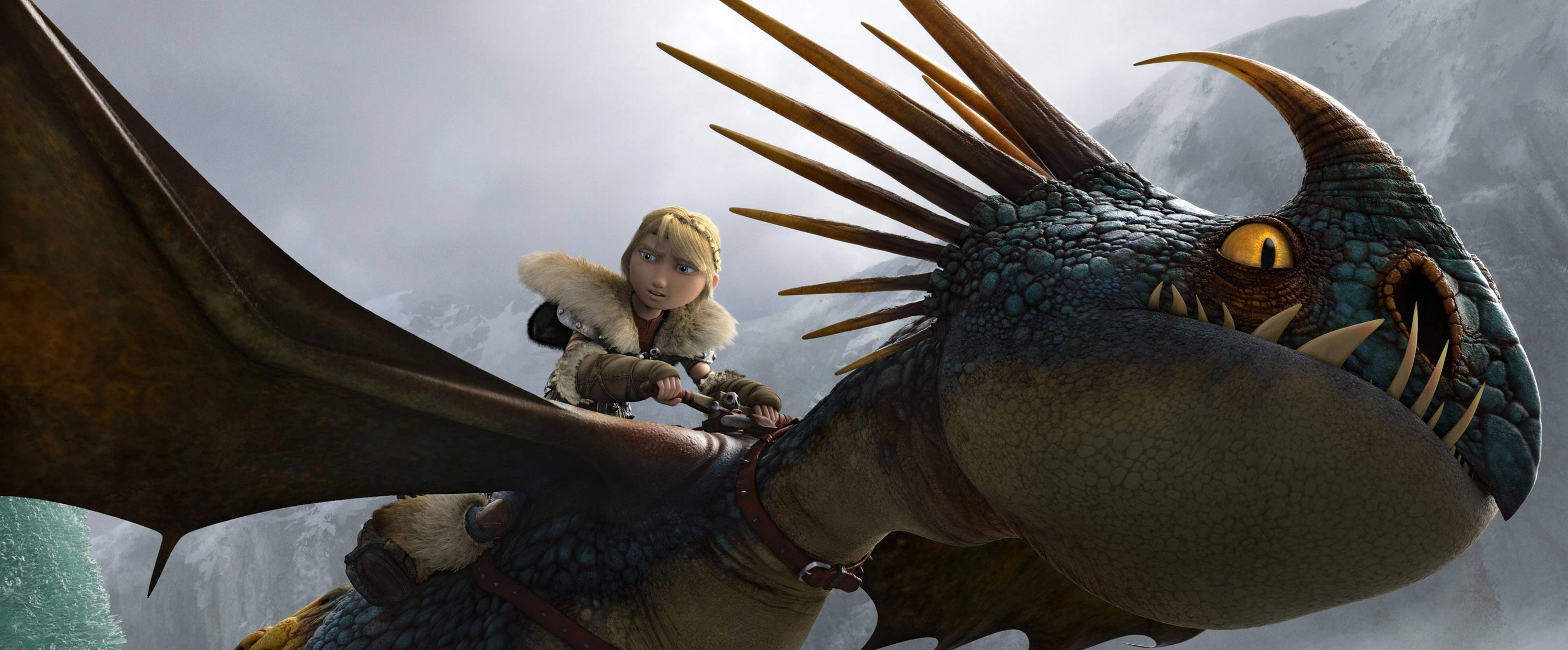 "Astrid (voiced by America Ferrera) sets off on an adventure in ""How To Train Your Dragon 2."""