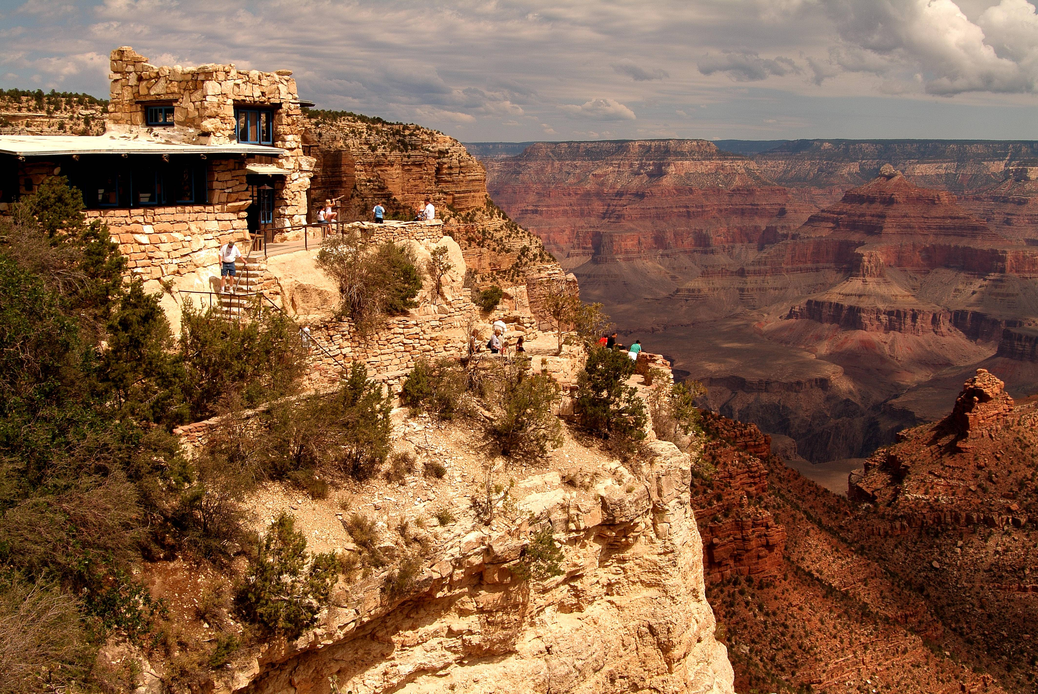 Lookout Studio is one of a number of attractions available for sightseeing at the South Rim of the Grand Canyon. The Grand Canyon Railway carries 225,000 visitors a year to the South Rim from Williams, Ariz.