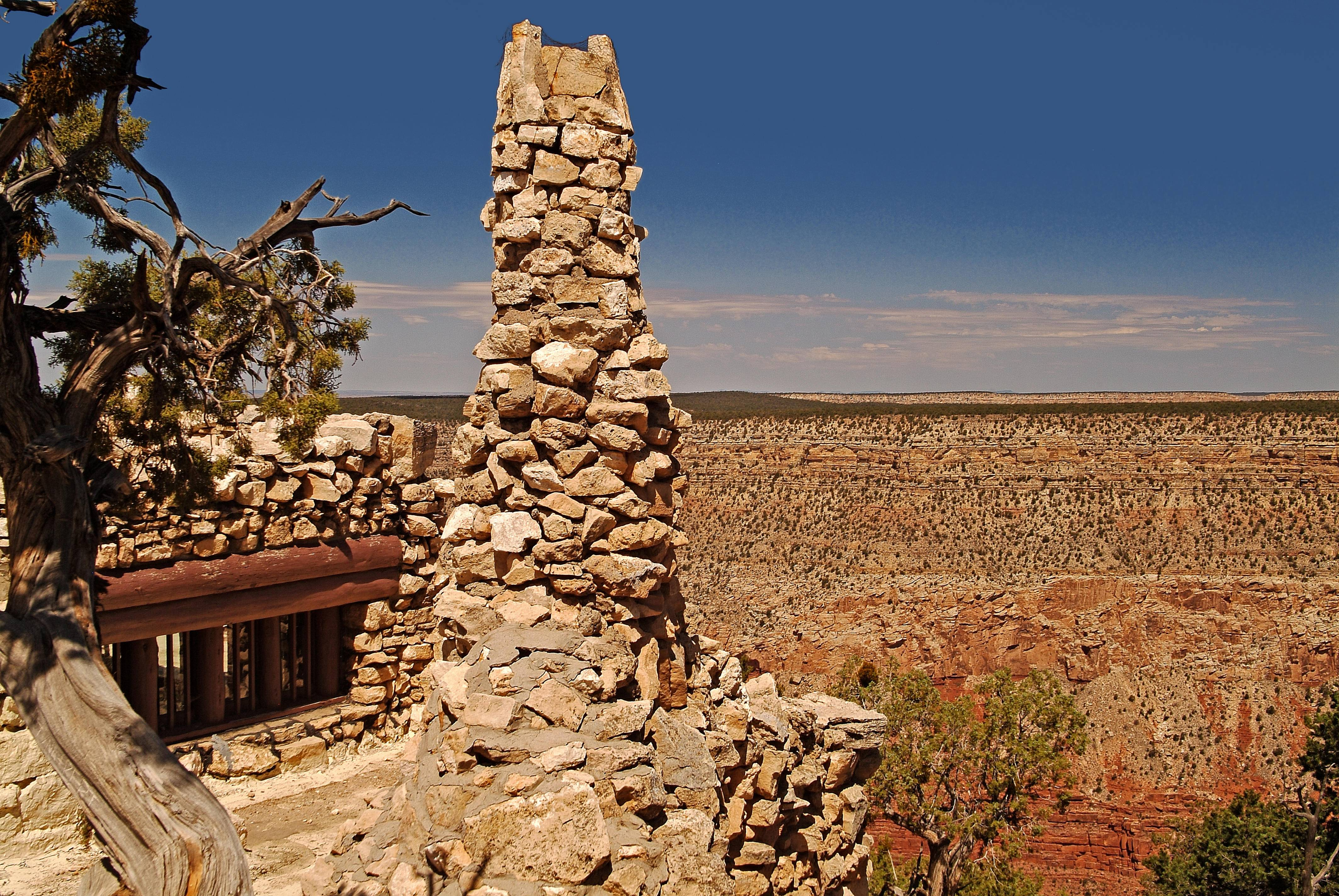 Hermits Rest, a historic century-old structure west of Grand Canyon Village, is one of a number of attractions available for sightseeing at the South Rim.