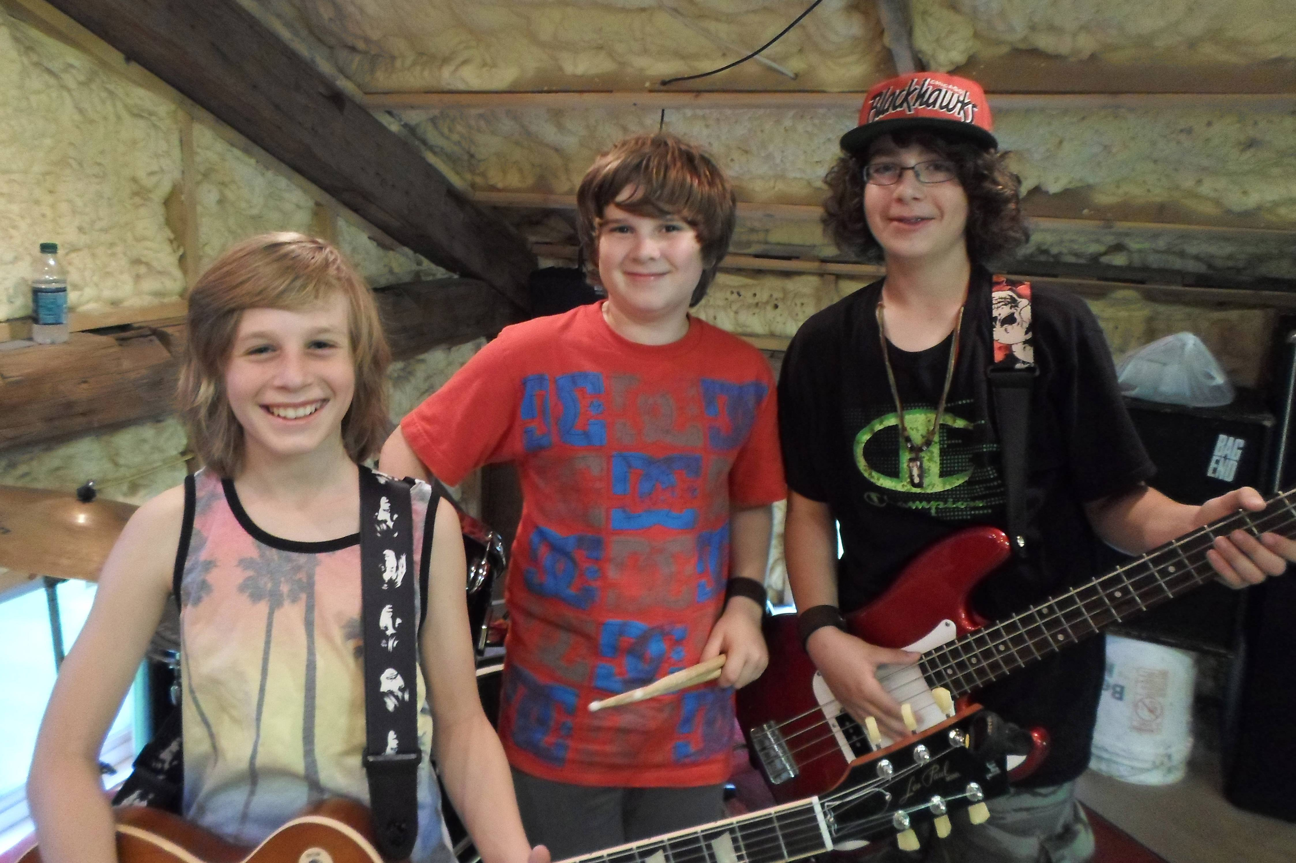 US band members from Axel Ellis, left, Rhys Junas and Ryan Zurick.