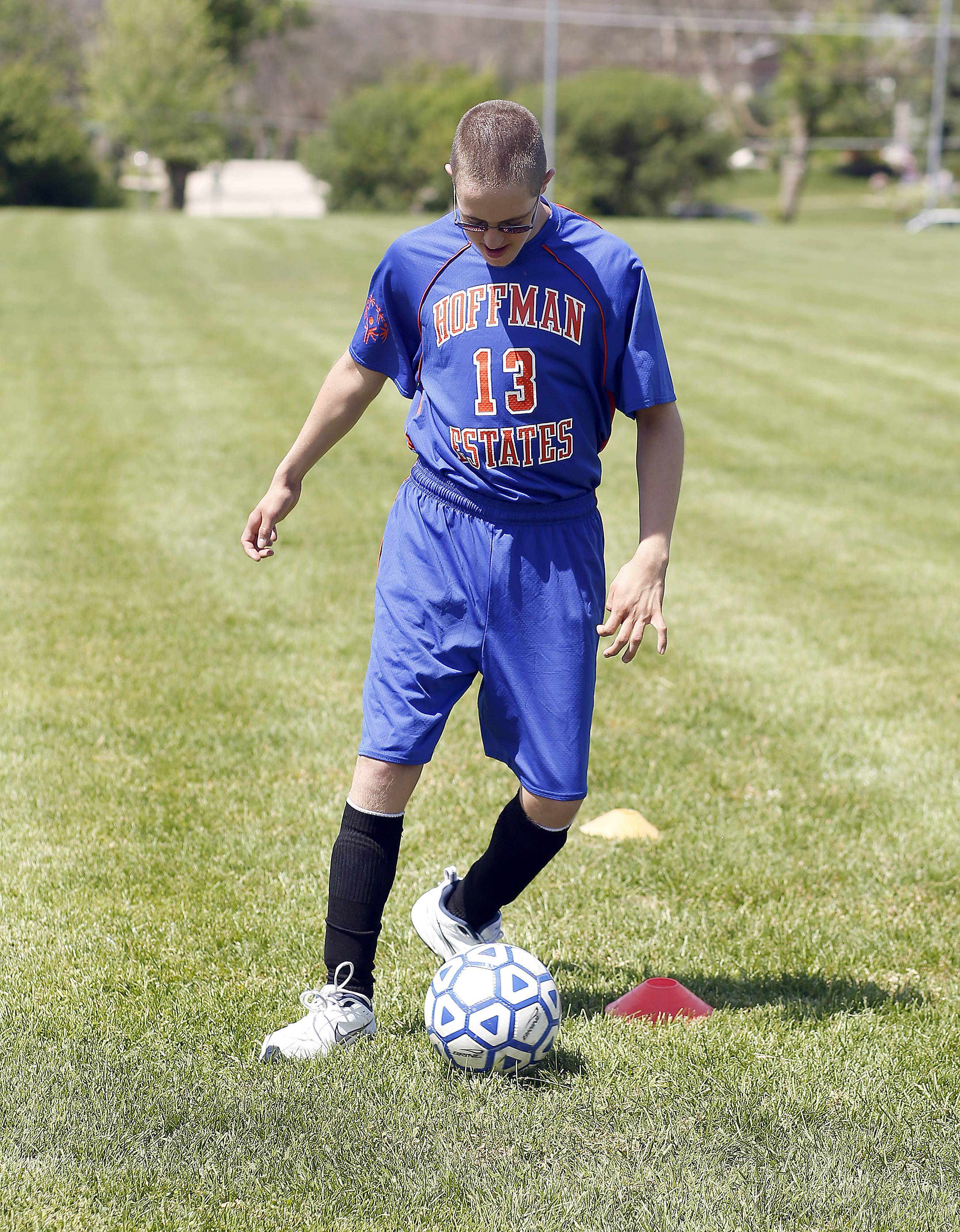 Matthew Sommerer, 17, is one of four Hoffman Estates High School students who earned a spot on the Team Illinois soccer team that will compete this month at the Special Olympics 2014 USA Games in New Jersey. Matthew has been playing soccer since he was 8 years old.