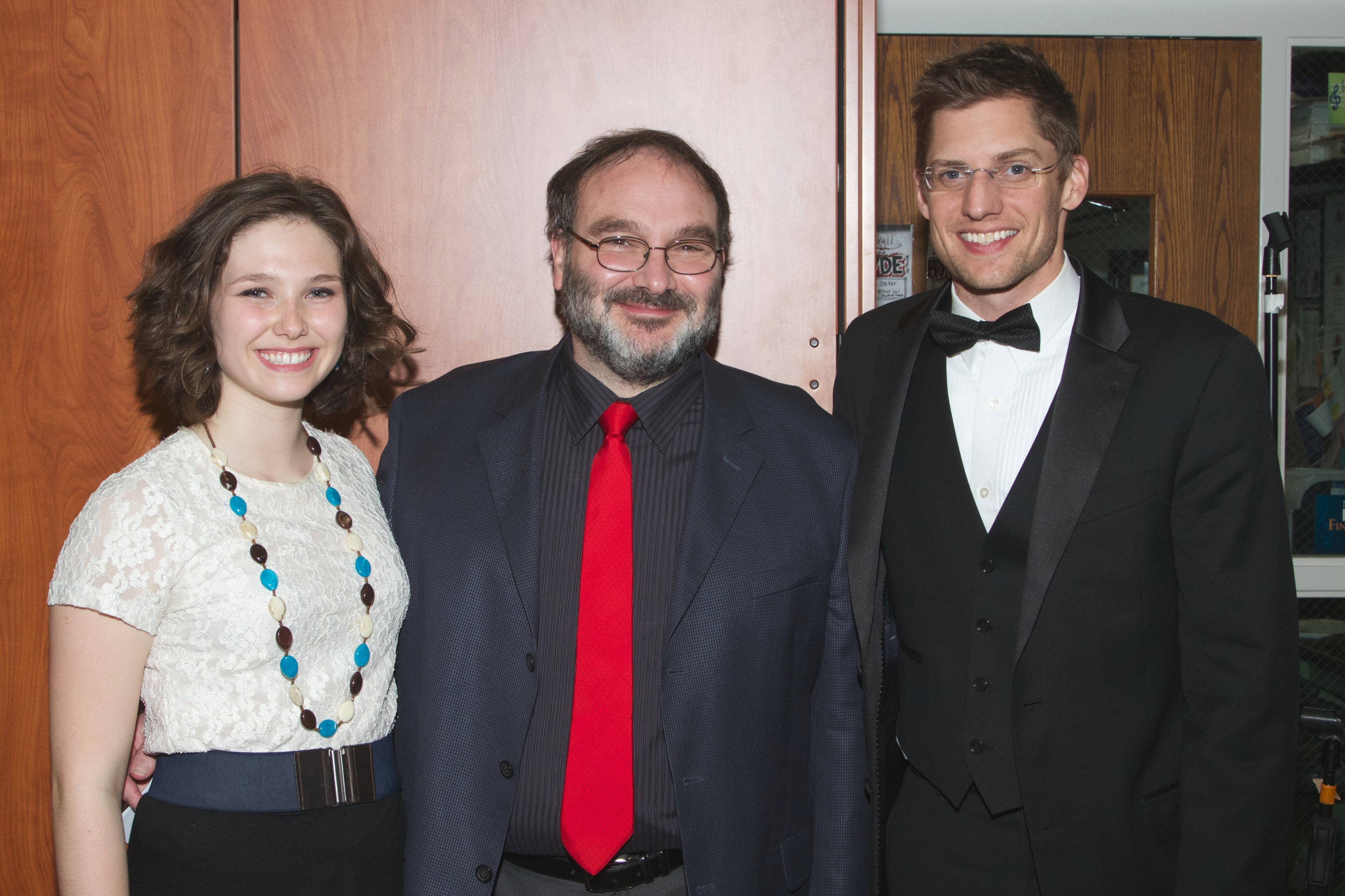Naperville North High School student Taylor Kroma smiles with her father, Jeff Kroma, and orchestra teacher, Dana Green, after the Healing Hearts with Harmony benefit concert she hosted in May for Edward Hospital. The concert raised nearly $2,000 for the Edward Foundation.