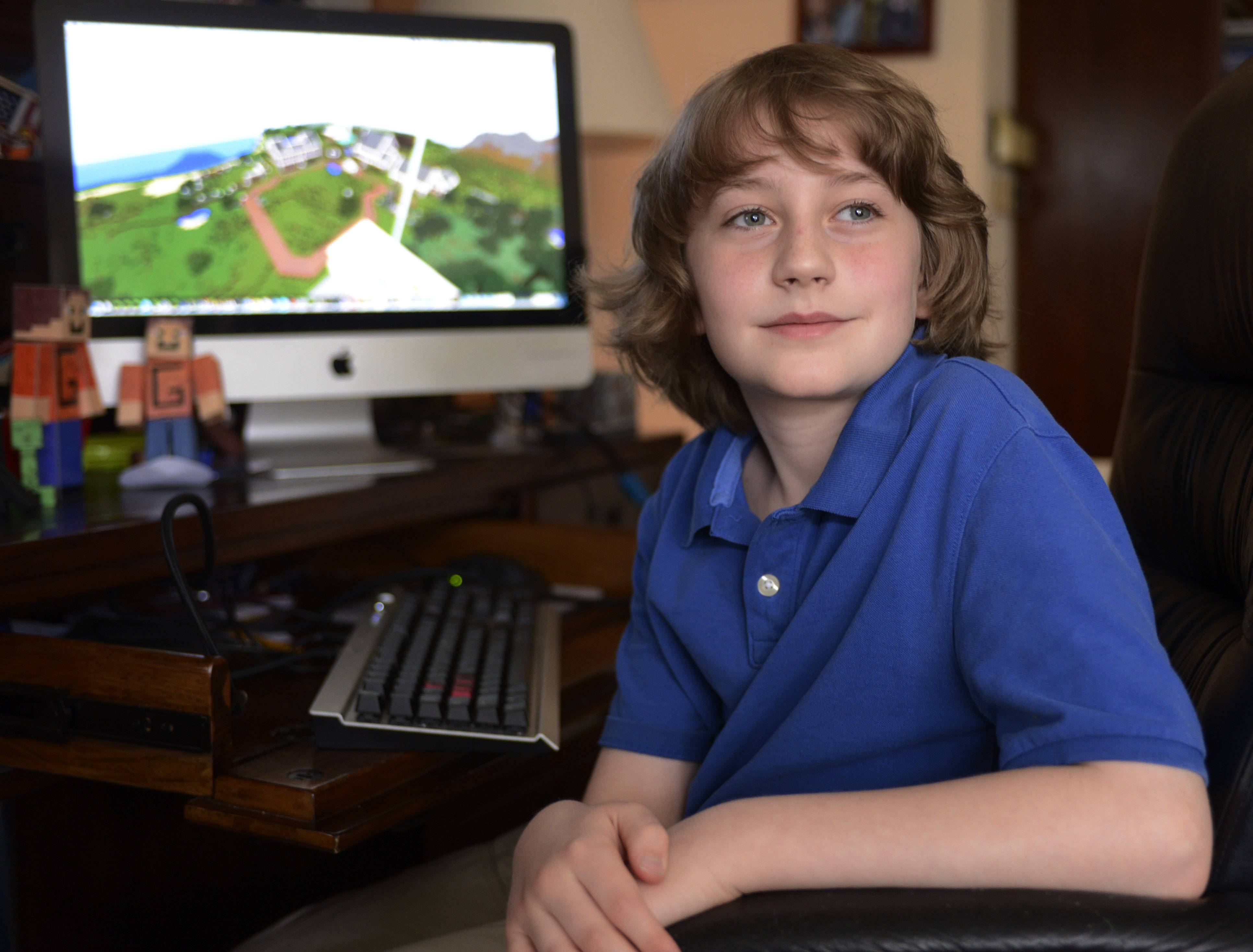 "Jake Mayer, 11, of Barrington plans to publish a sequel this month to his successful first novel, which was inspired by the computer game ""Minecraft."""