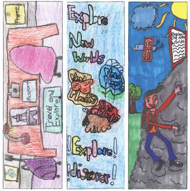 These winning entries from the Schaumburg Township District Library's Bookmark Design Contest have been made into bookmarks and will be distributed throughout the summer at the library.Maureen Howell