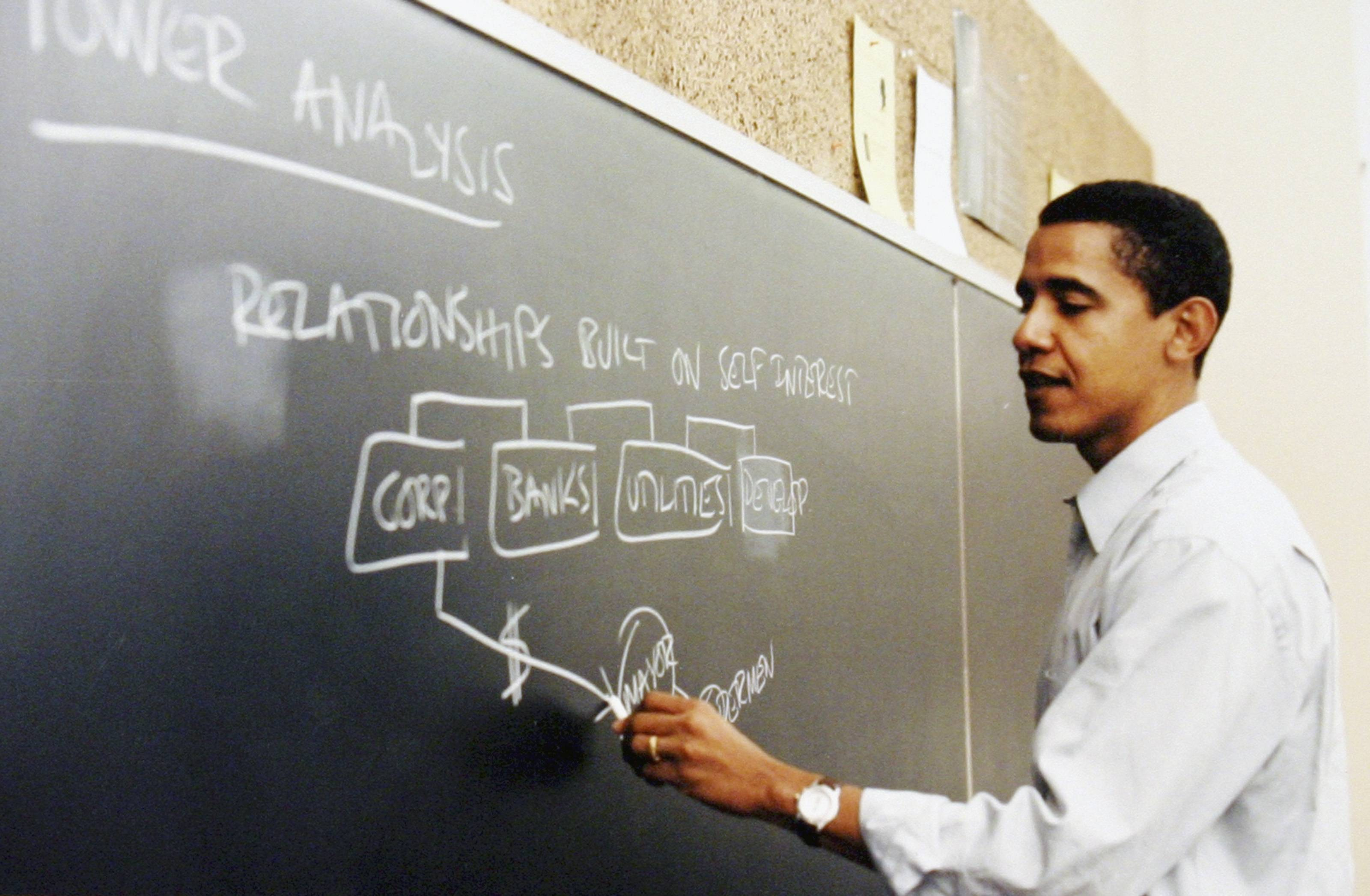President Barack Obama spent 12 years as a constitutional law professor at the University of Chicago, which will be submitting one of the bids for his presidential library.