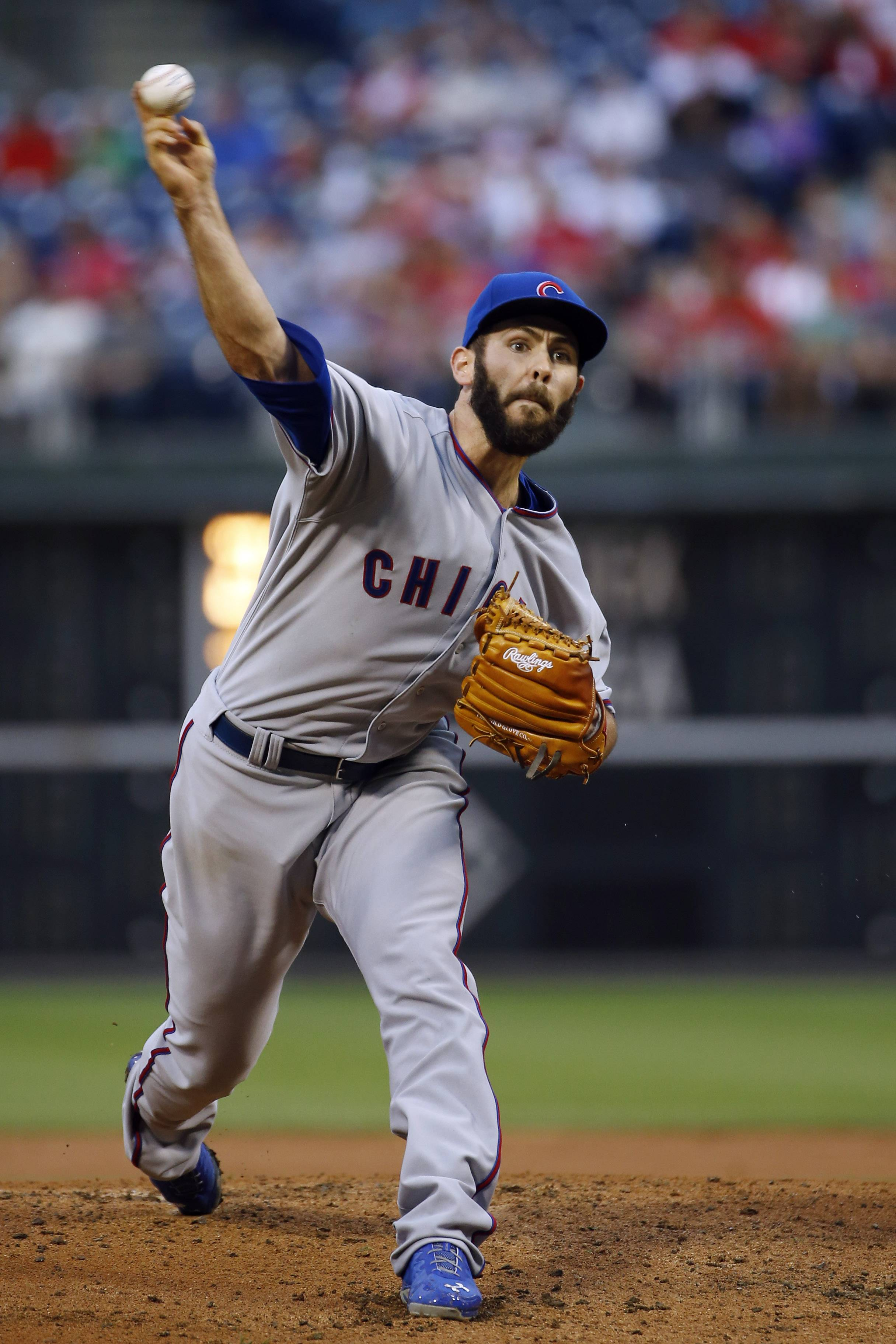 Jake Arrieta threw seven impressive innings, Starlin Castro hit a two-run homer and the Cubs beat the Philadelphia Phillies 2-1 Friday night in matchup of last-place teams.