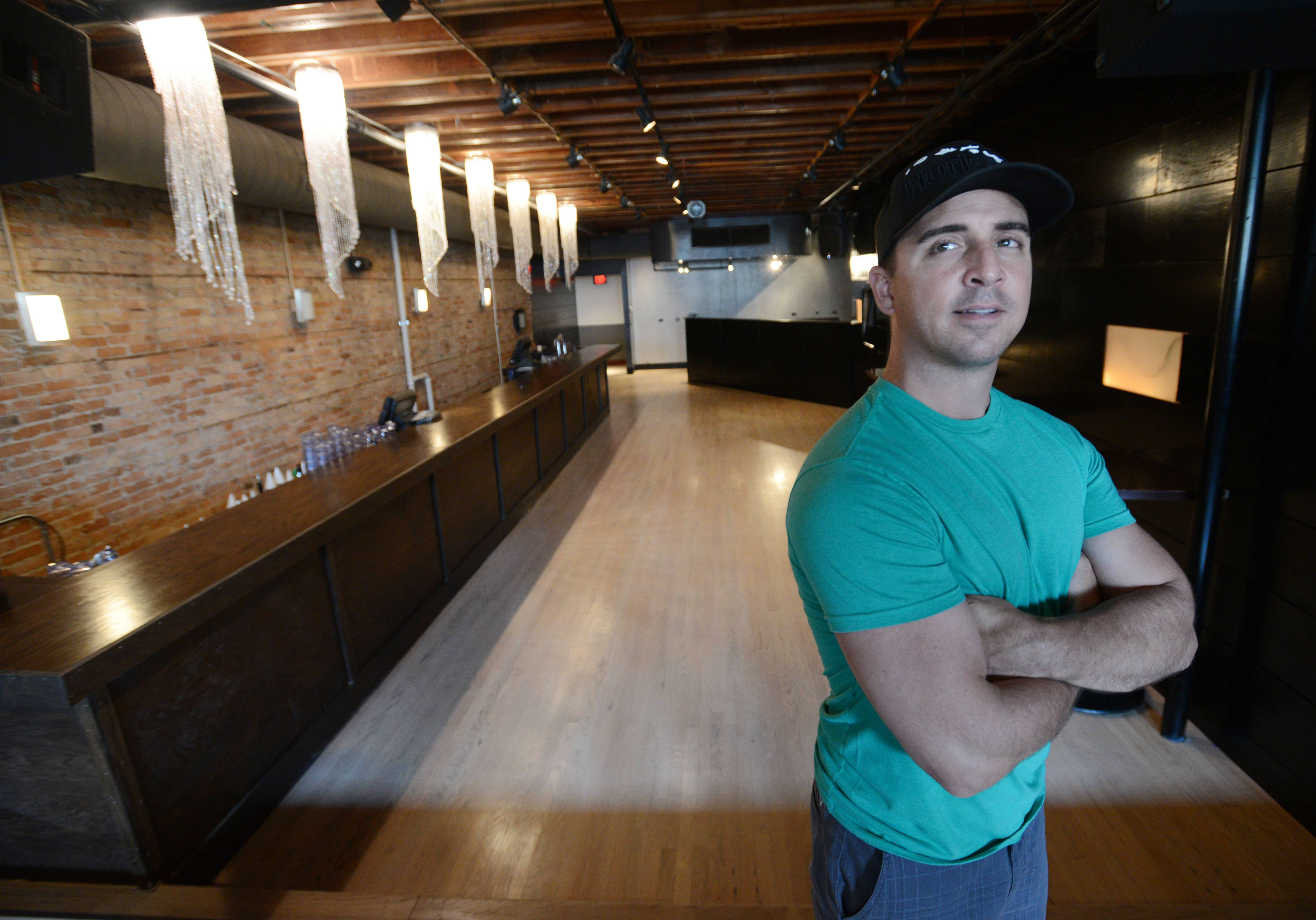 "Chuck Rizzo says he recently made renovations to the second floor of Rizzo's bar in downtown Naperville to improve safety and decrease congestion and ""tension"" near stairways. The bar now is aligned parallel to the length of the building instead of perpendicular, and there is only one entrance to the second floor instead of three."