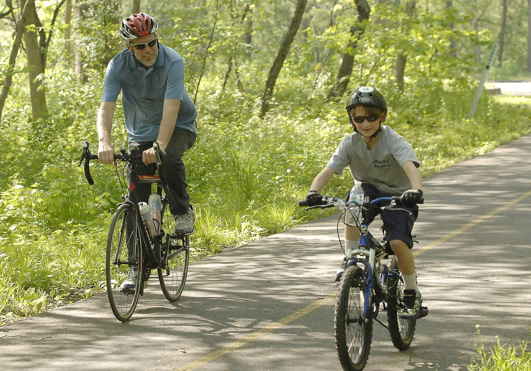 Mark Stein spends quality recreation time with his grandson Max Weir. The two often ride bikes and kayak together.