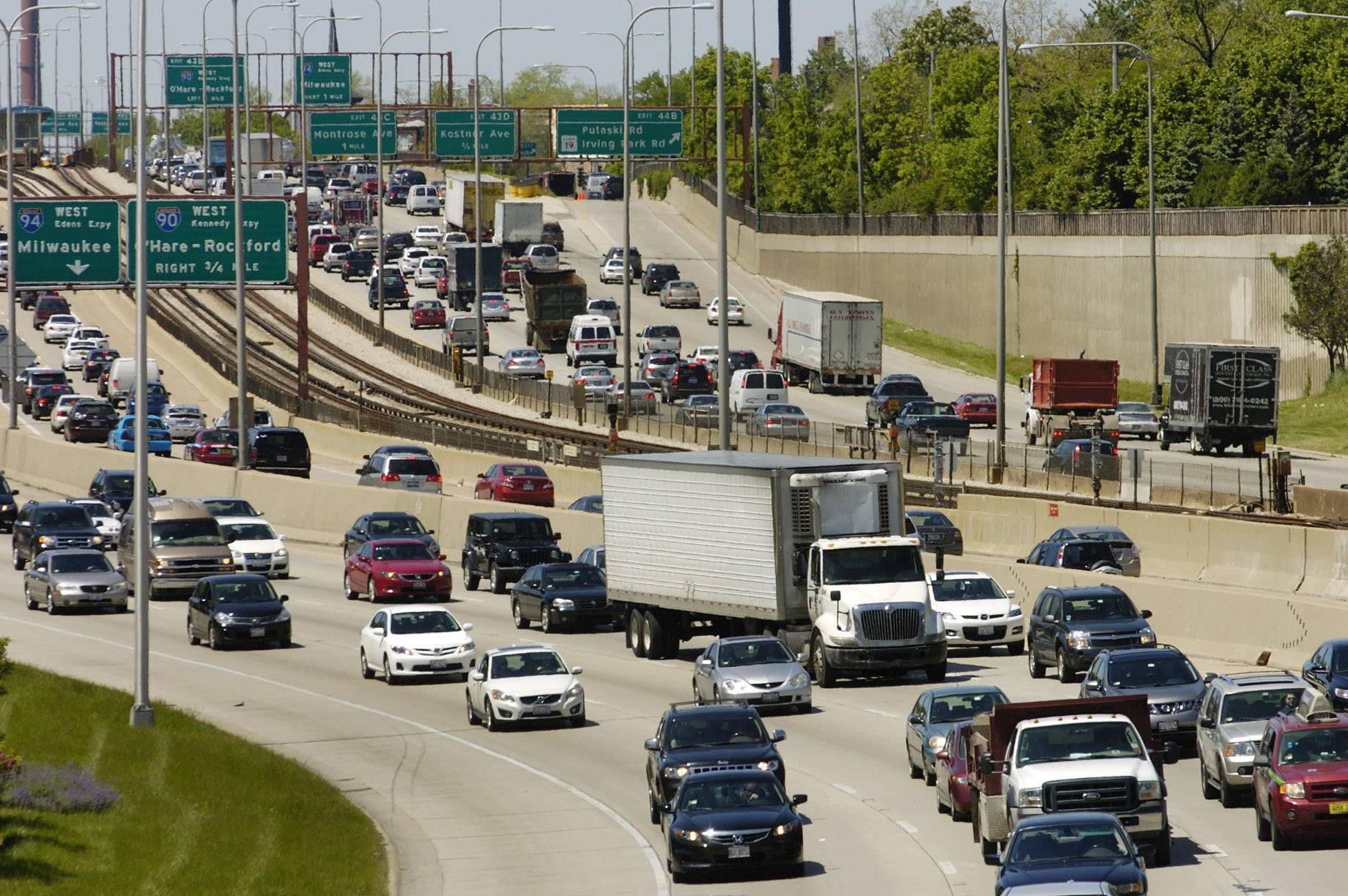 Want to drive on the Kennedy Expressway this weekend? No. Just ... no.