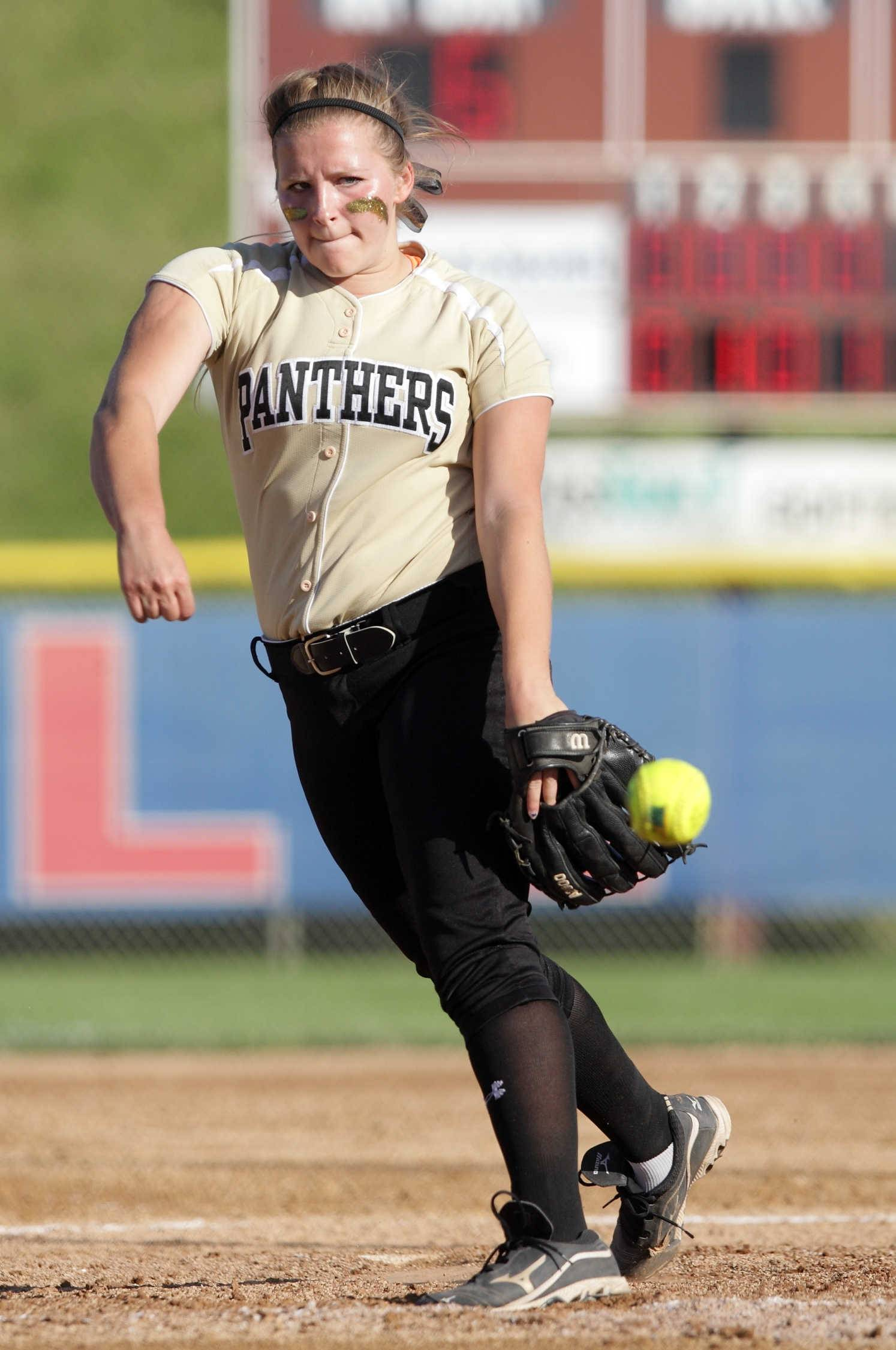 Glenbard North's Cece Dopart winds up for a pitch during the Class 4A state semifinal game against Warren on Friday. The Panthers lost 6-3 and will play for third place Saturday against Lincol-Way East.