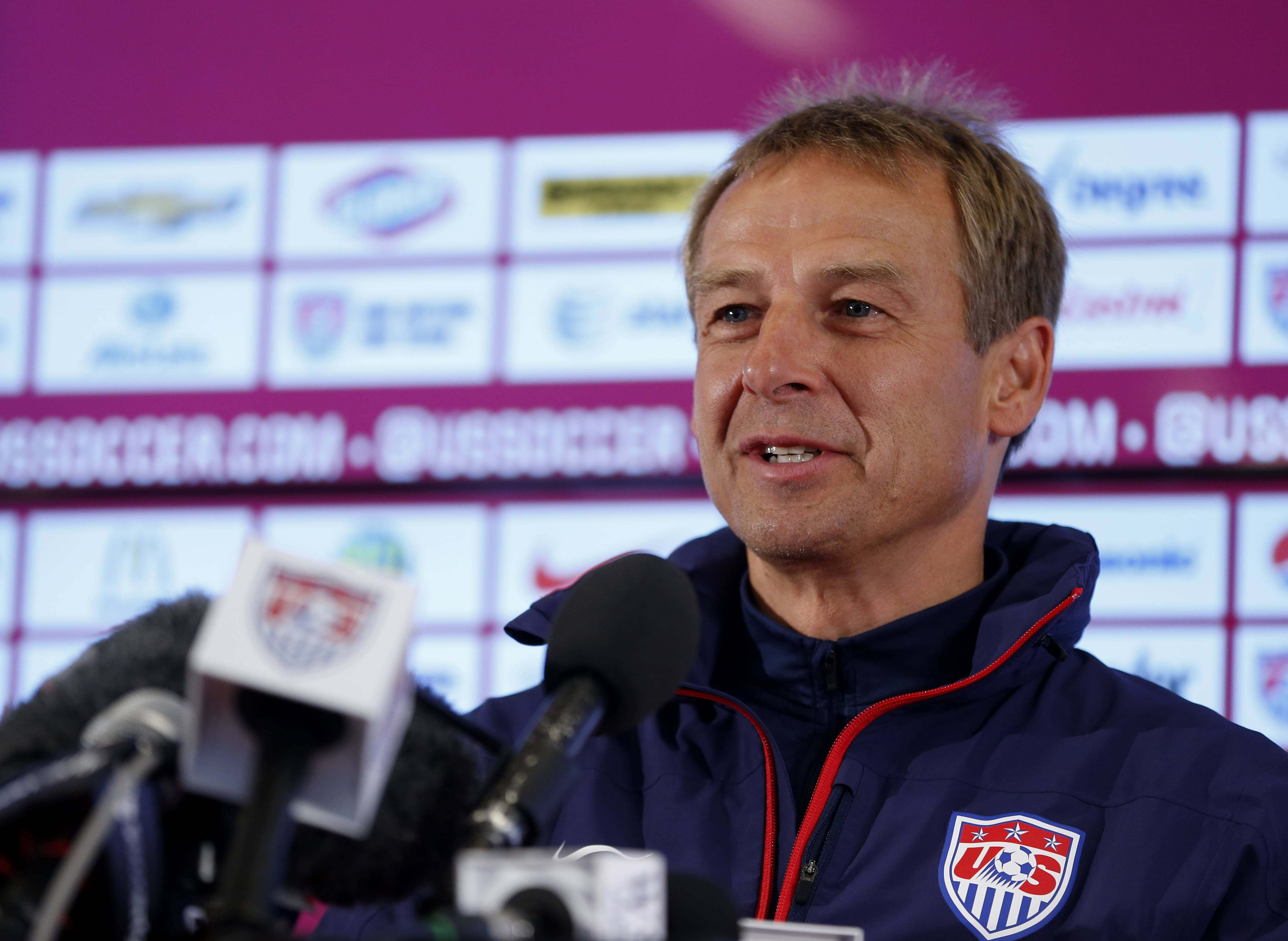United States' head coach Juergen Klinsmann has said his team has no chance of winning the World Cup and should just focus on advancing in group play.