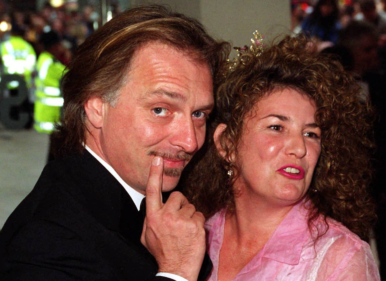 British comedian and actor Rik Mayall with his wife Barbara.