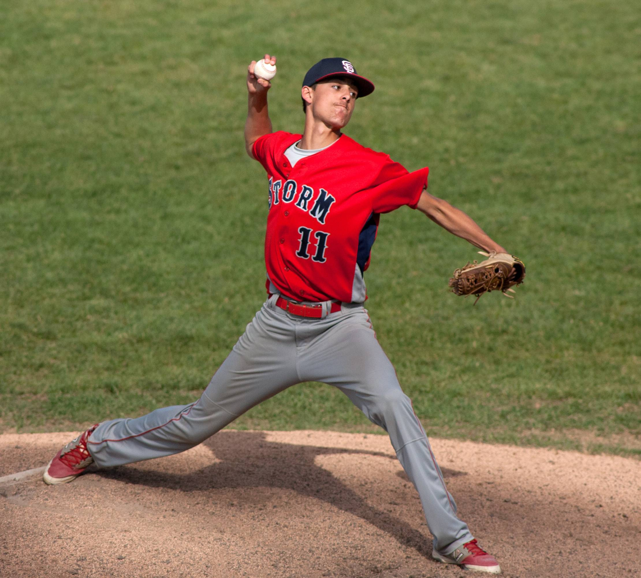 South Elgin pitcher Max Keough delivers against Prairie Ridge during the Class 4A third-place game at Silver Cross Field in Joliet.