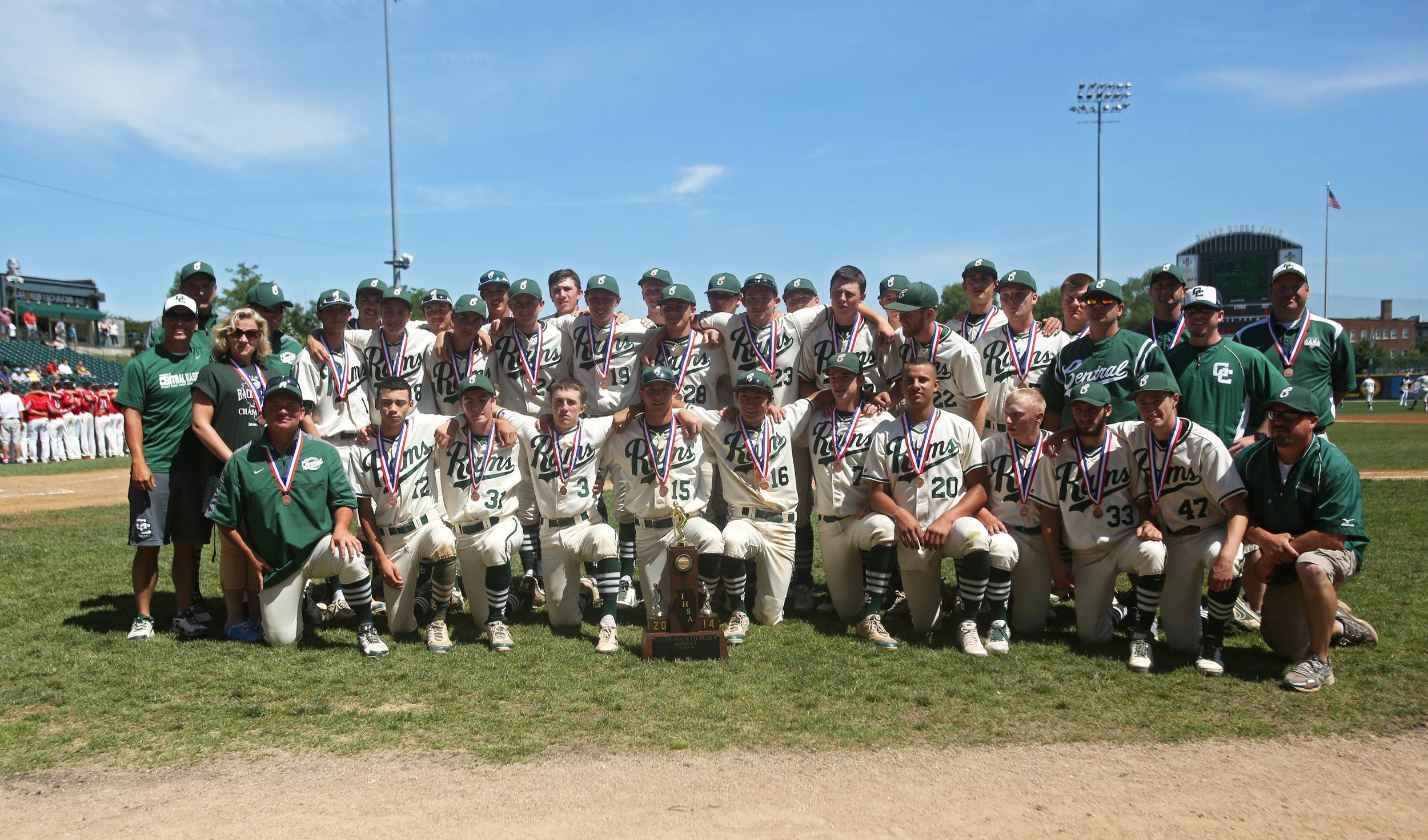 Grayslake Central earned a fourth place finish in the Class 3A baseball state tournament at Silver Cross Field in Joliet.