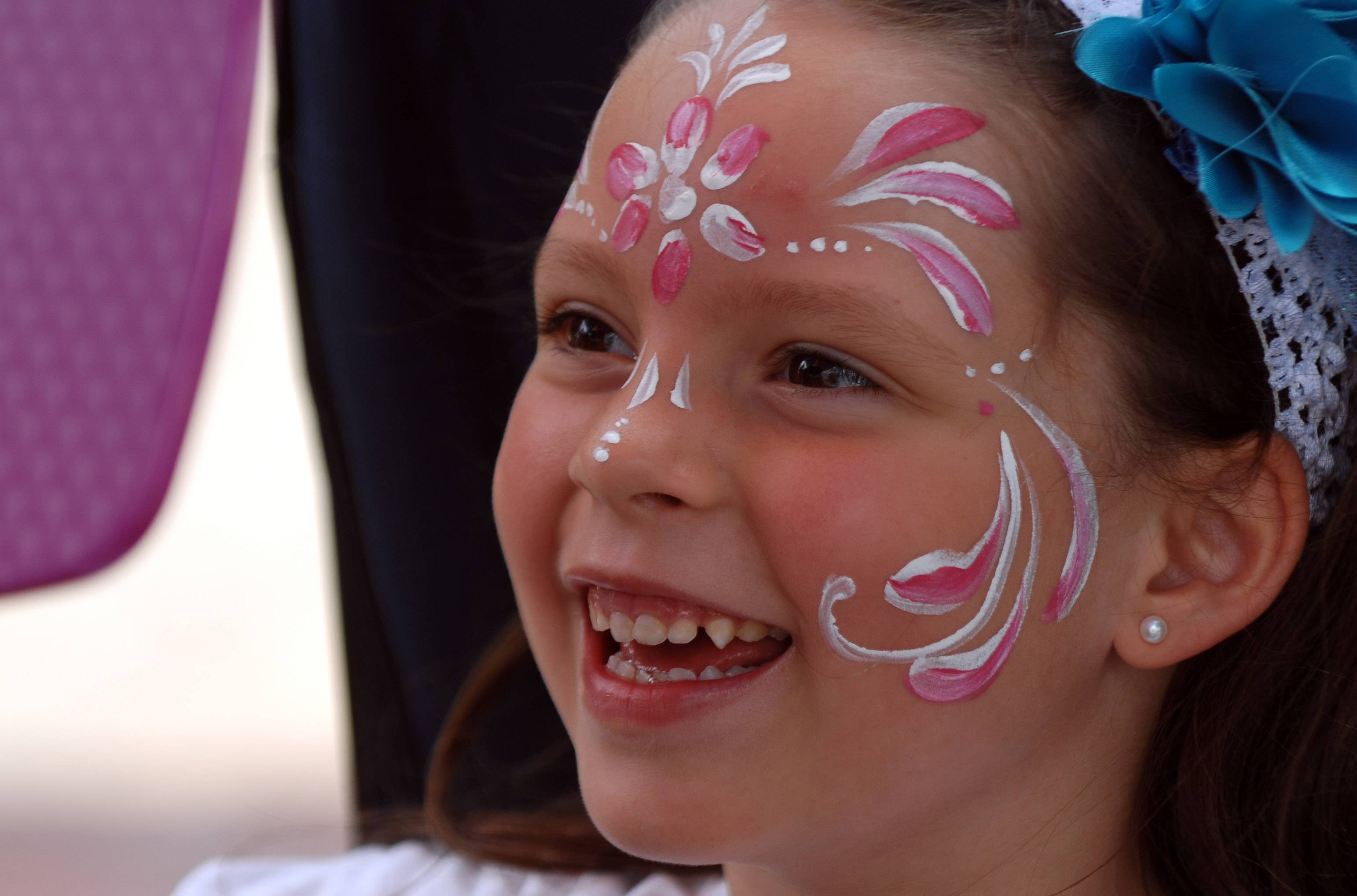 Kids can get their faces painted for free on Tuesday at Swedish Days.
