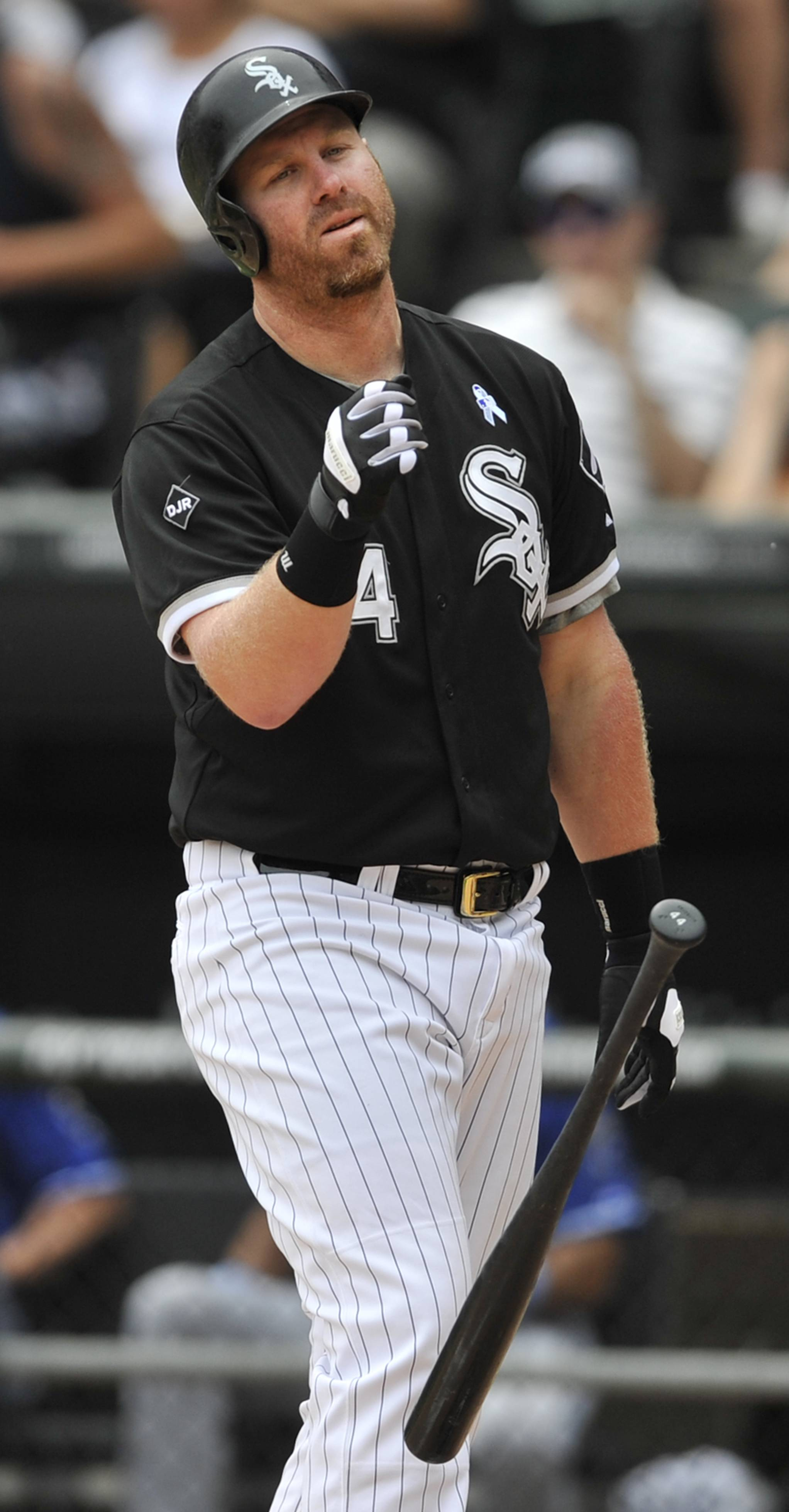 The White Sox's Adam Dunn was 1-for-9 with 5 strikeouts in the three-game series sweep by the Royals this weekend at U.S. Cellular Field.
