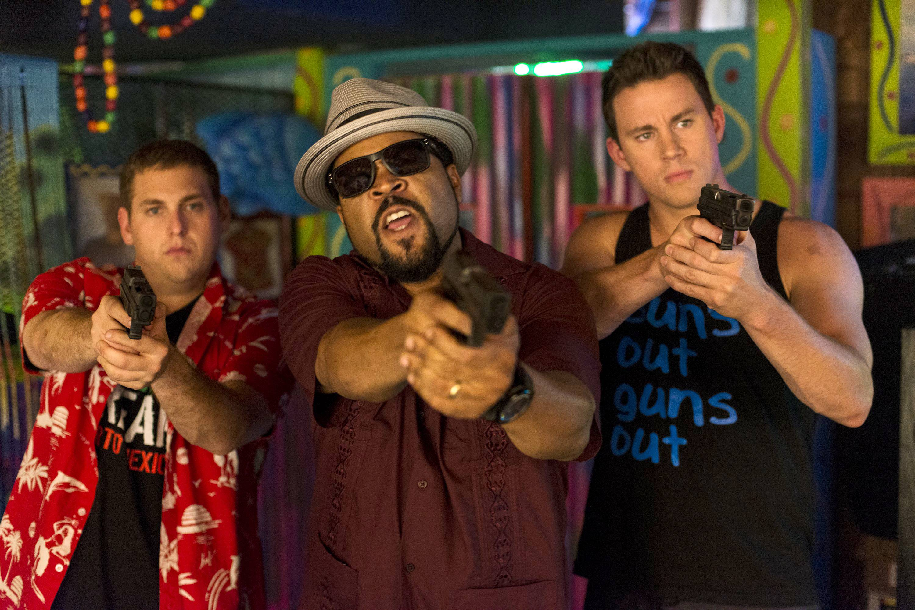 "Jonah Hill, from left, Ice Cube, and Channing Tatum star in Columbia Pictures' ""22 Jump Street,"" which brought in $60 million in its first weekend of release."