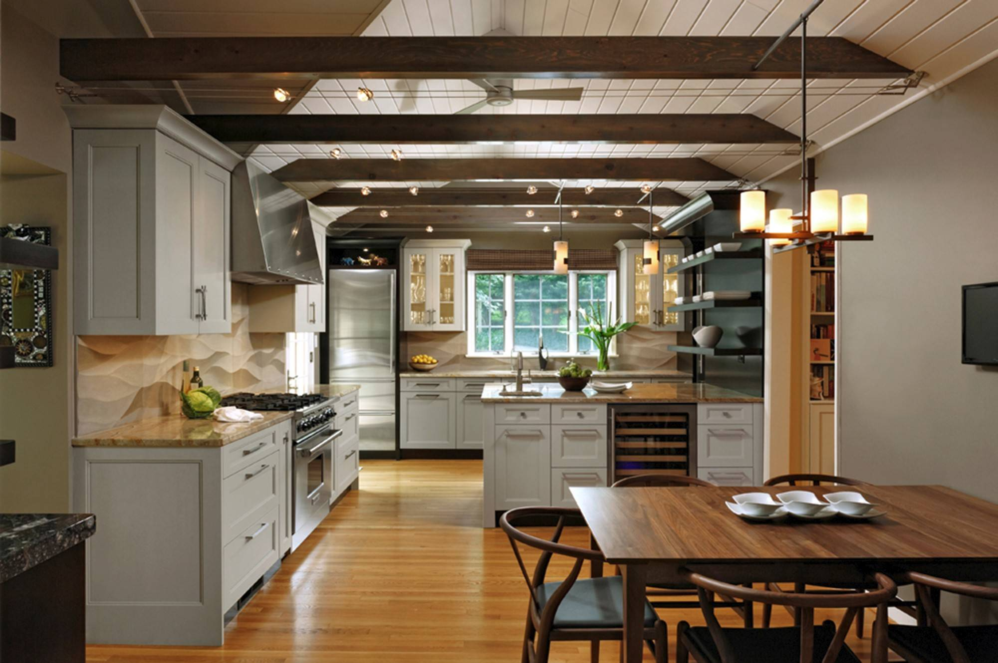 Wood floors will remain No. 1, designers said. Pictured here is the second-place medium-size kitchen, by Lauren Levant Bland of Jennifer Gilmer Kitchen and Bath.