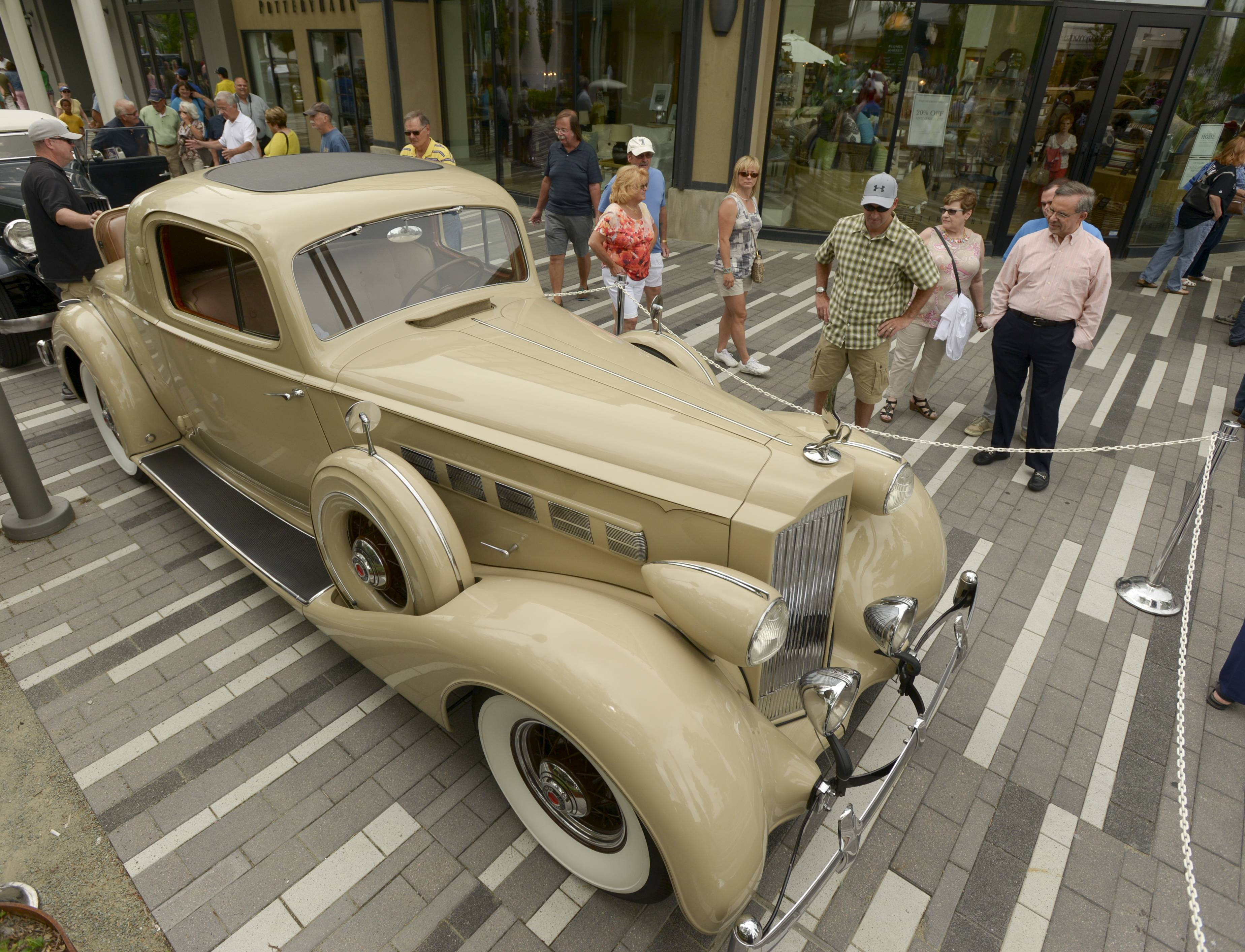 A 1935 Packard 1205 Super 8 Coupe was among the attractions at the 46th annual Father's Day Classic Car Show Sunday at Oakbrook Center.