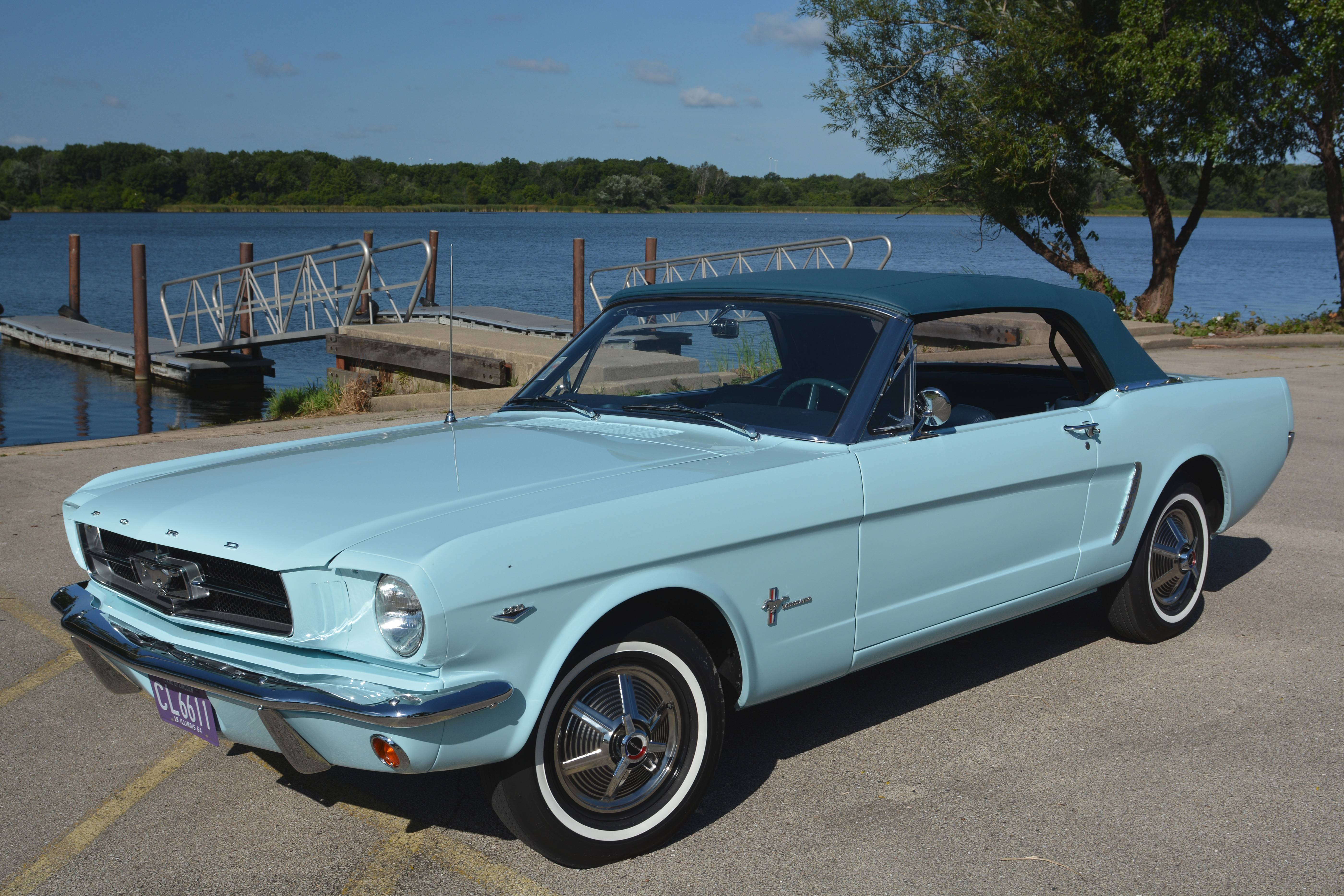 While still a college student 50 years ago, Gail Wise of Park Ridge bought this 1964½ Ford Mustang two days before the new model was to go on sale to the public.