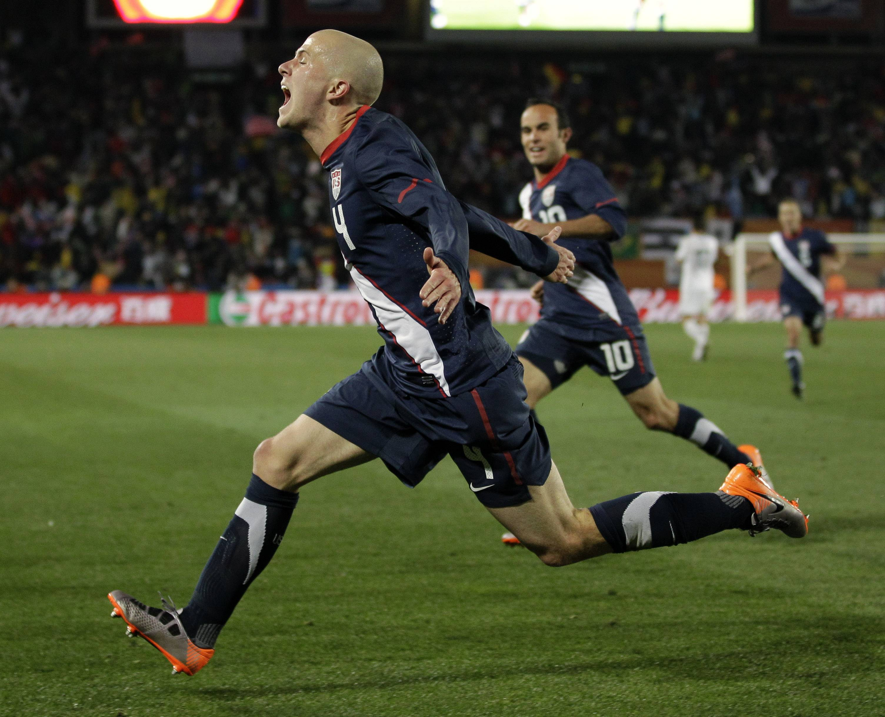 Michael Bradley, foreground, who is the son of former Chicago Fire coach Bob Bradley and a former Palatine resident, might be the Americans' most important player in the World Cup. The United States opens World Cup Group G play against Ghana on Monday.