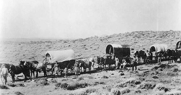 An estimated 1,000 emigrants crossed the waterless section of the Hastings Cutoff across Utah's Great Salt Lake Desert en route to California.
