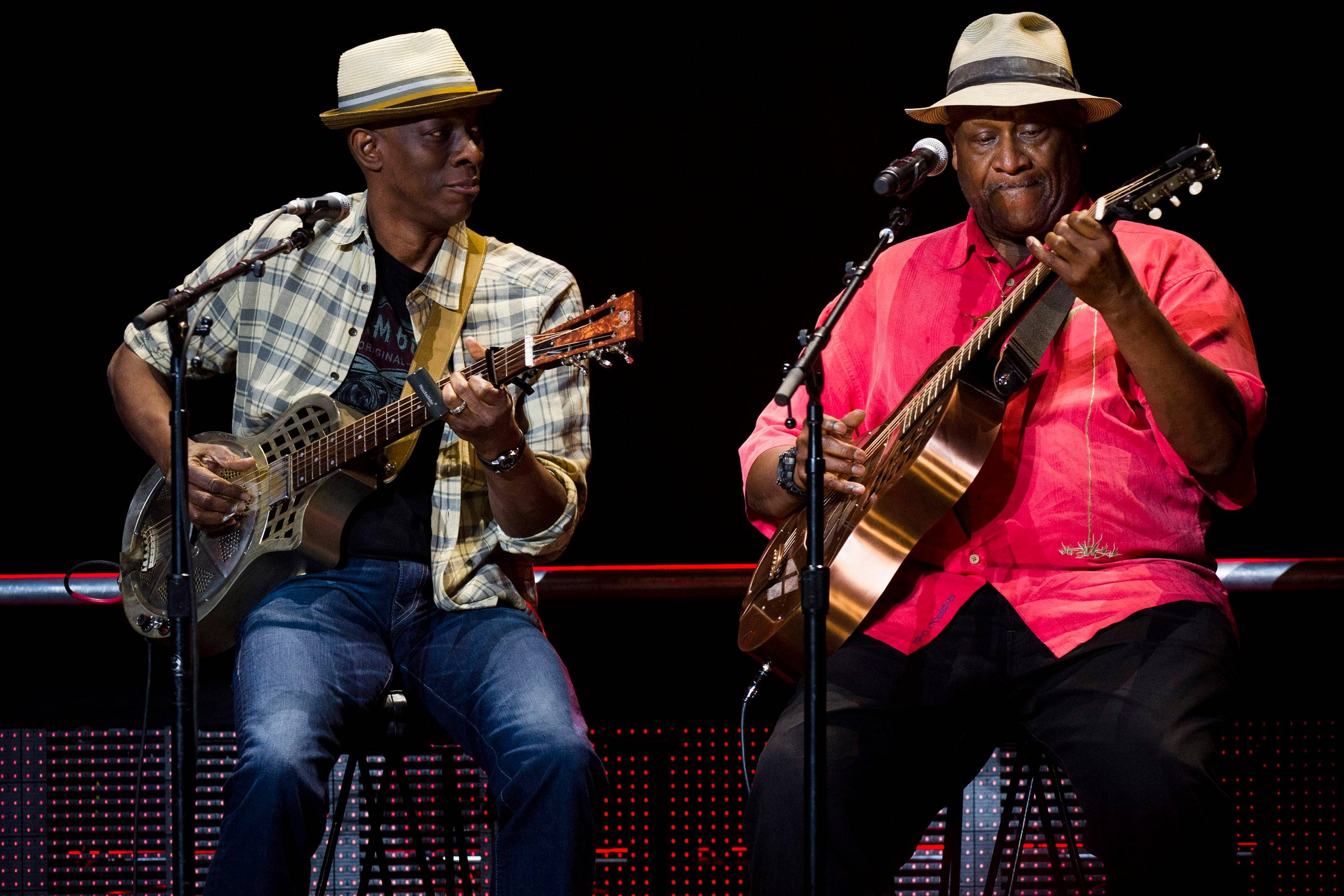 Taj Mahal, right, who has performed with Etta James and Howlin' Wolf, as well as the Rolling Stones and Eric Clapton, will take the stage at RiverEdge Park for Aurora's Blues on the Fox festival.