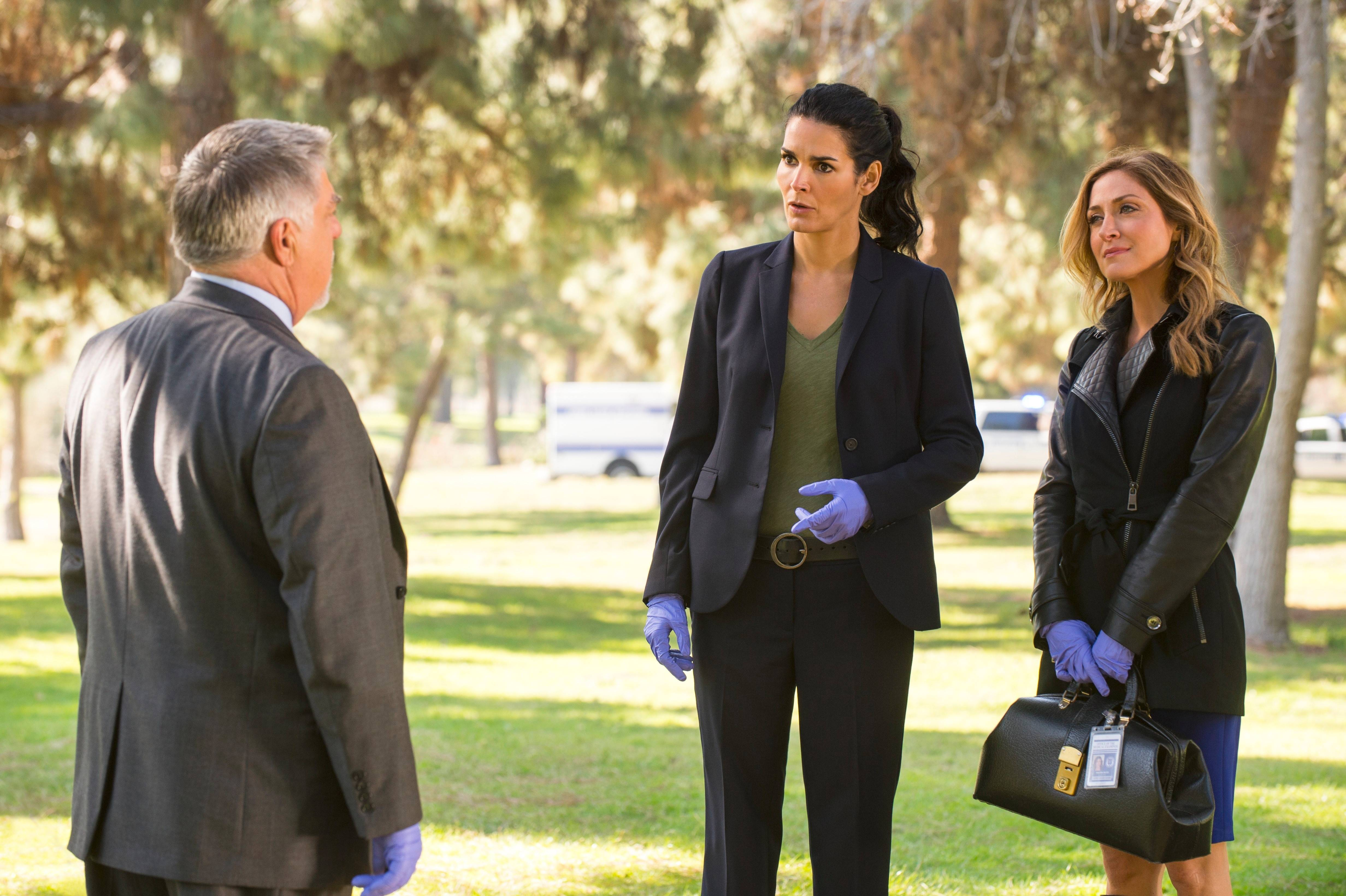 "Jane (Angie Harmon), left, and Maura (Sasha Alexander) are back on the job but facing new challenges as ""Rizzoli & Isles"" returns to TNT for a fifth season."