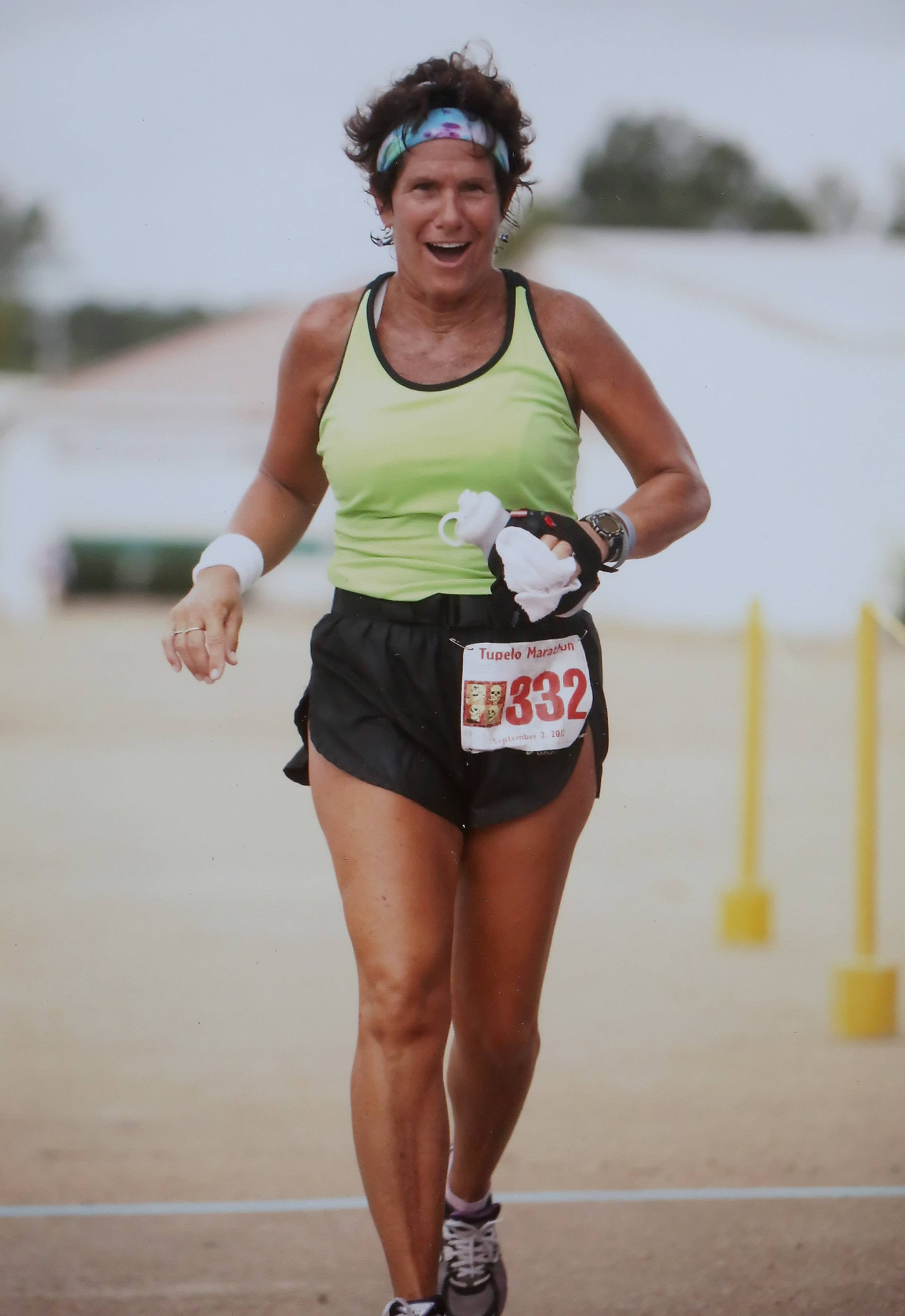 Libertyville runner Mary Ann Zemla competes in a marathon in Tupelo, Miss., in 2012. Zemla has run marathons in all 50 states, 74 marathons in all.