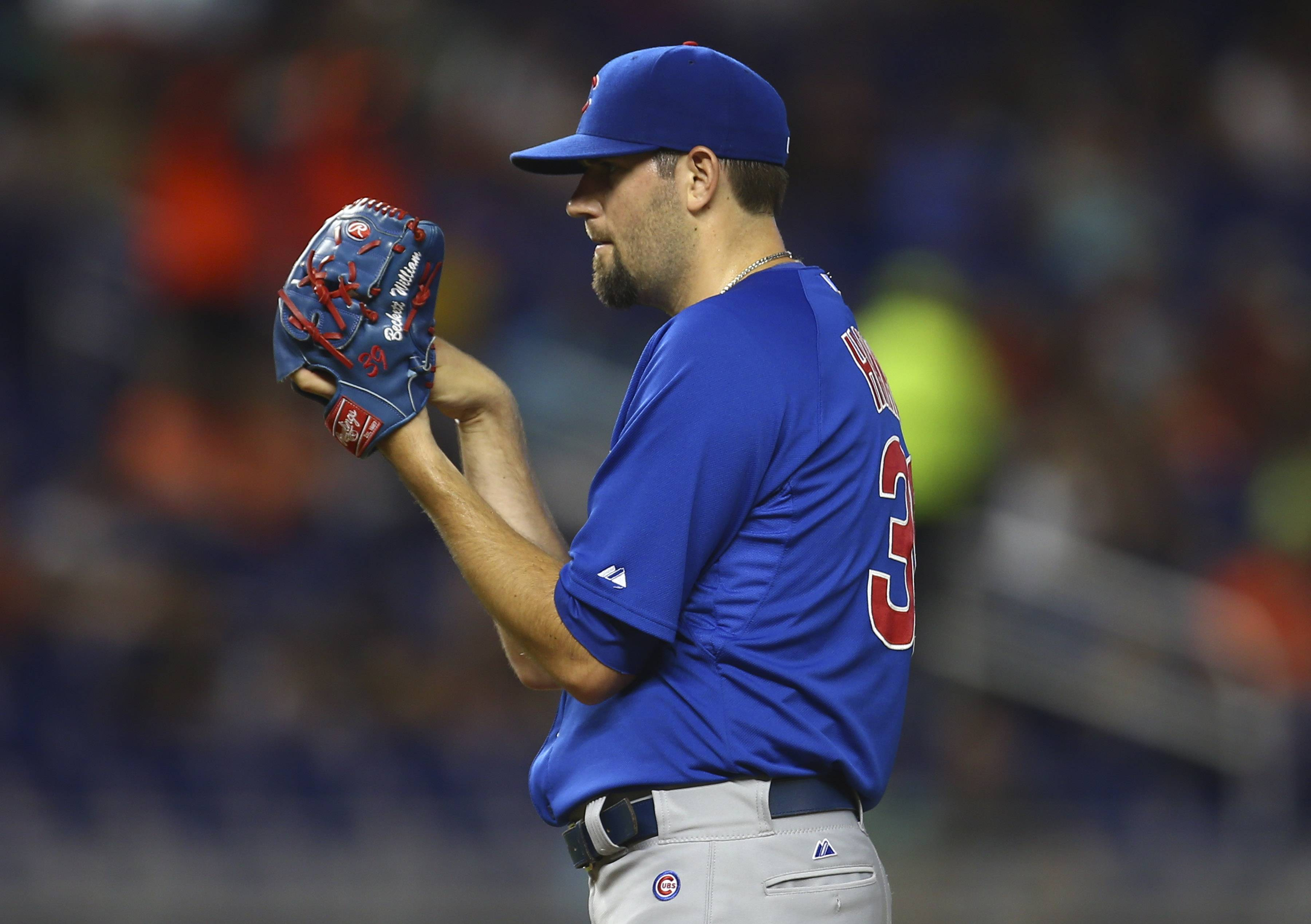 Cubs starter Jason Hammel worked 6 innings Monday night against the Marlins, giving up 4 runs on 8 hits.