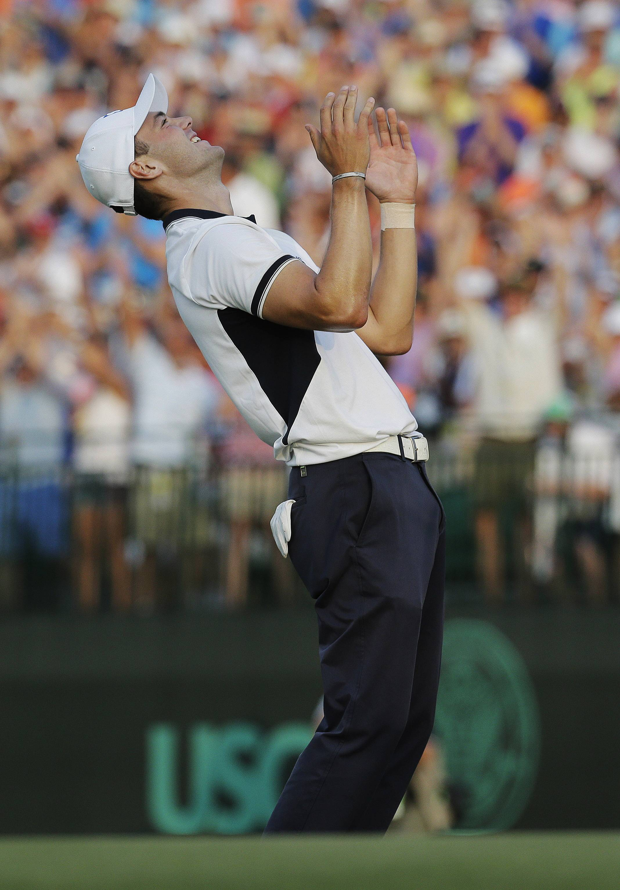 Martin Kaymer of Germany celebrates after winning the U.S. Open golf tournament in Pinehurst, N.C., Sunday. But did the Germans celebrate with him?