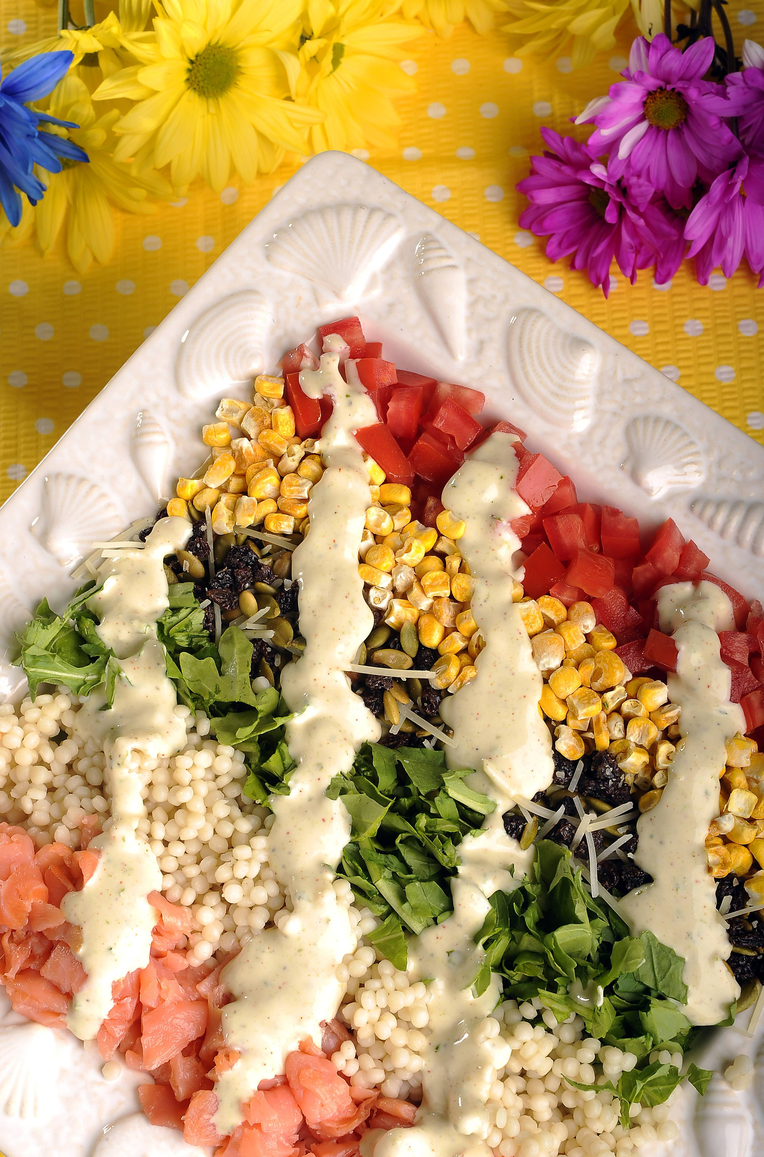 Freeze-dried corn is the star of Stetson Chopped Salad, one of Penny Kazmier's favorite summer salads.