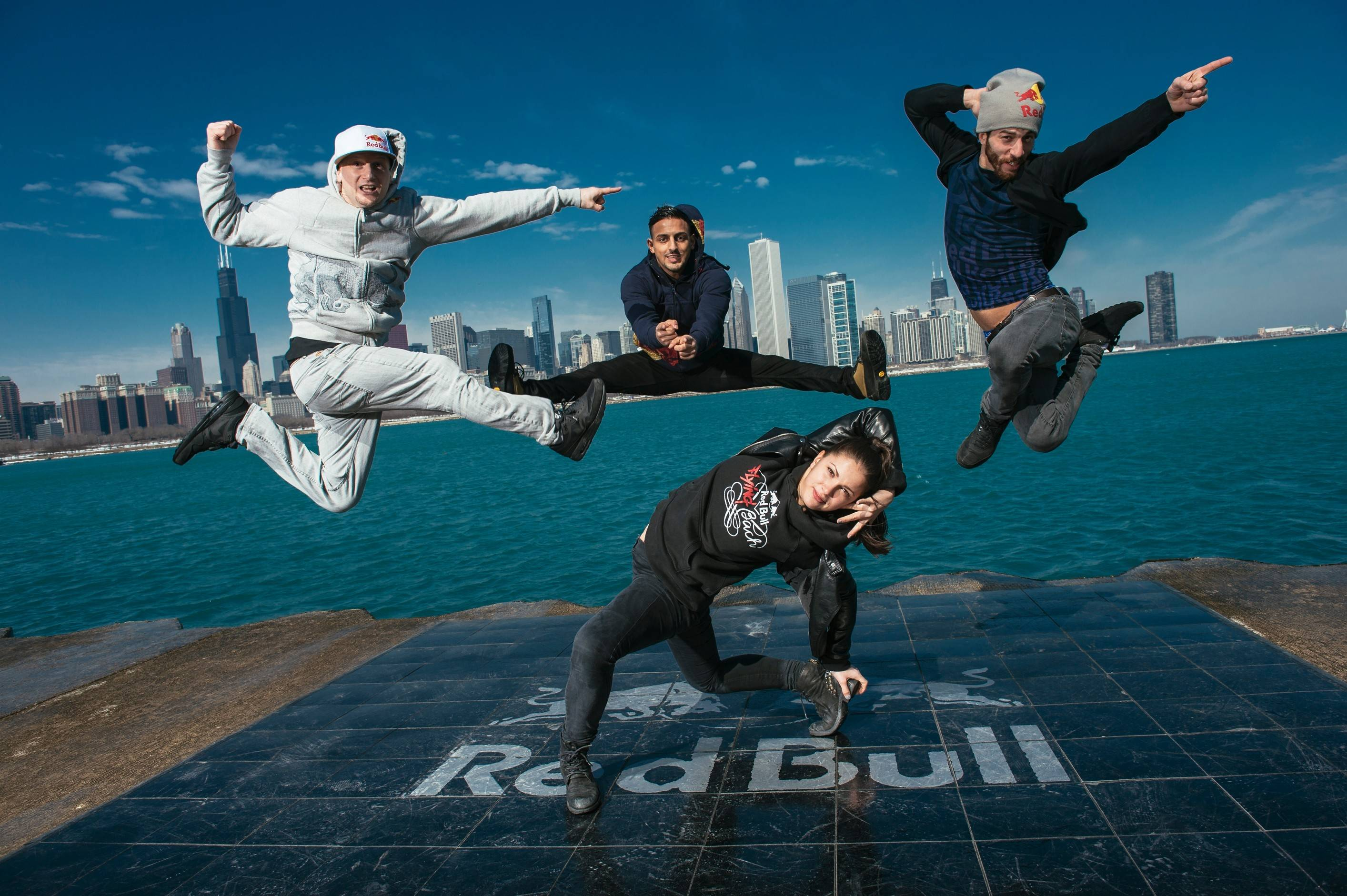 "The German break dance troupe Flying Steps performs the show ""Red Bull Flying Bach"" at the Civic Opera House in Chicago."