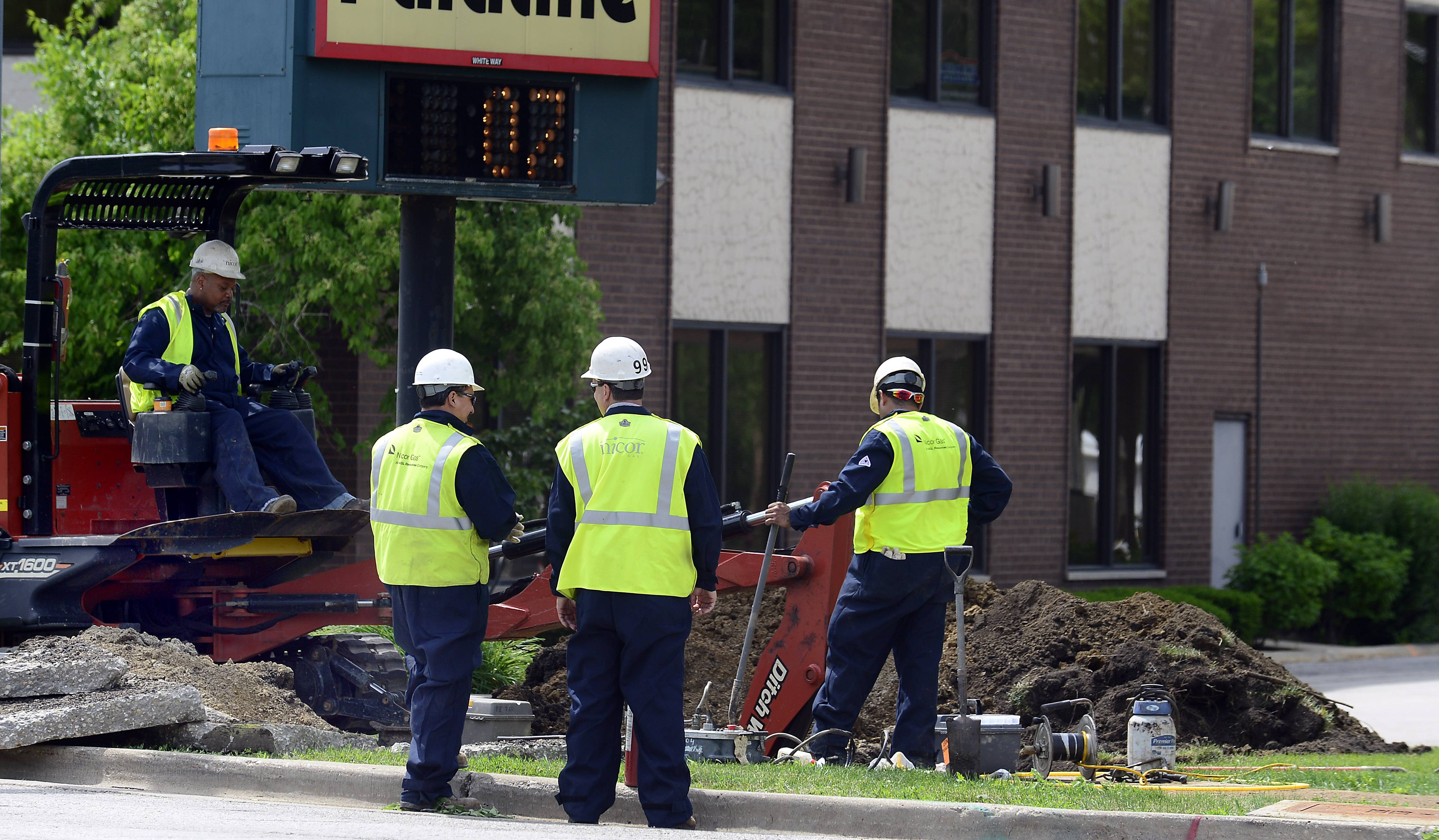 Traffic was rerouted off Northwest Highway while crews targeted a gas leak Tuesday morning near Plum Grove Road. Crews remained on the scene into the afternoon, but the roads were reopened to traffic.
