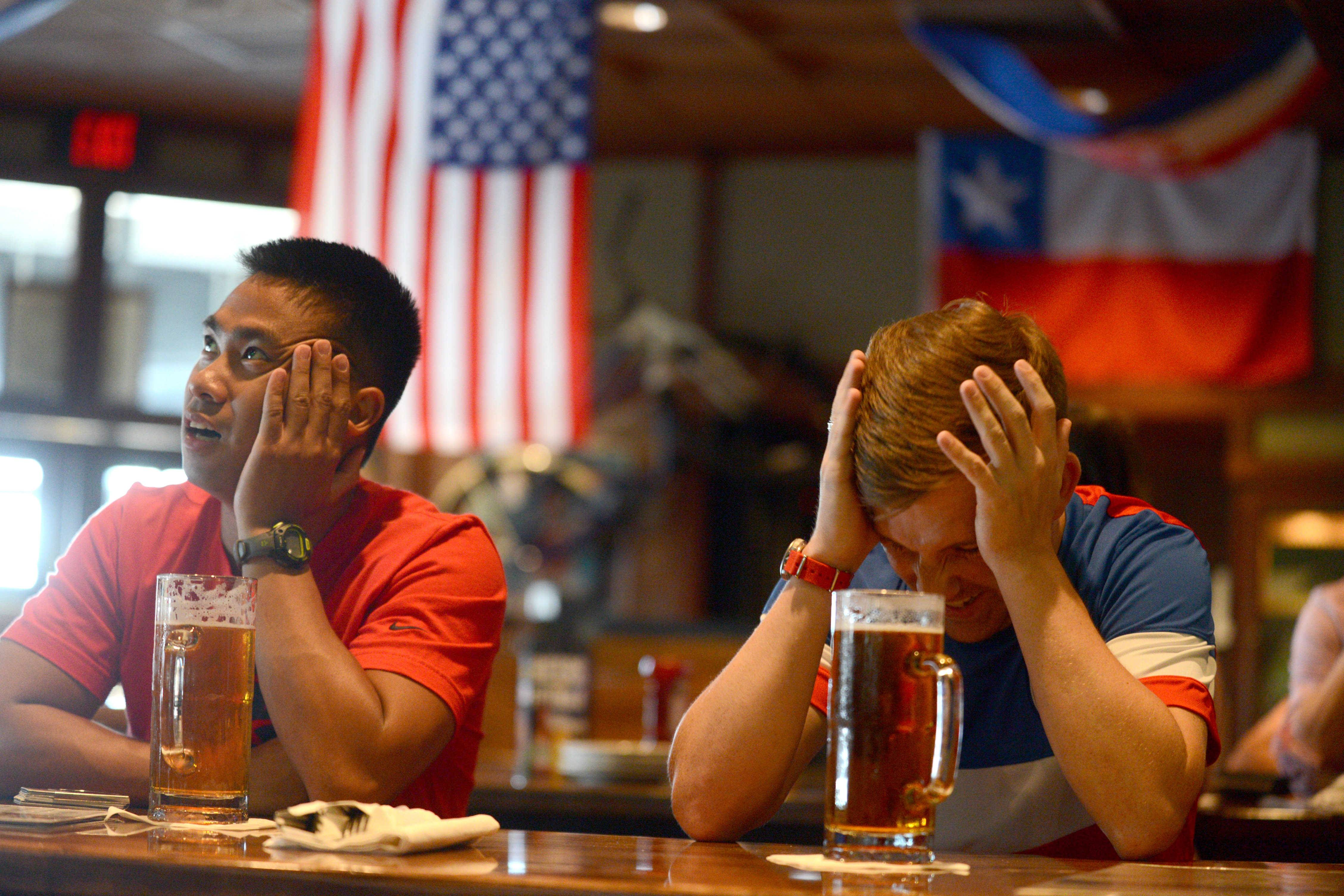 Jonathan Acosta, left, of Addison, and Steve Jenkins of Hoffman Estates can only hope it gets better for the U.S. team after the Dempsey injury.