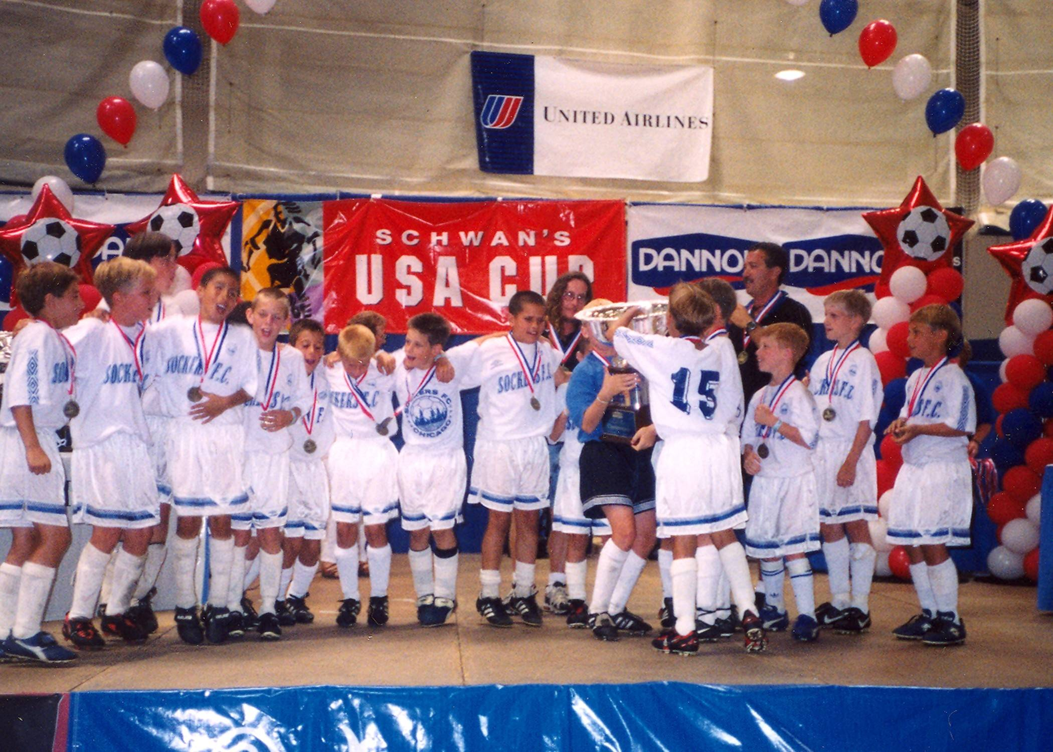 Having played on the Sockers FC team that won the USA Cup when he was 11, former Palatine resident Michael Bradley, second from left, is a starting midfielder for the U.S. National Team playing for soccer's World Cup.