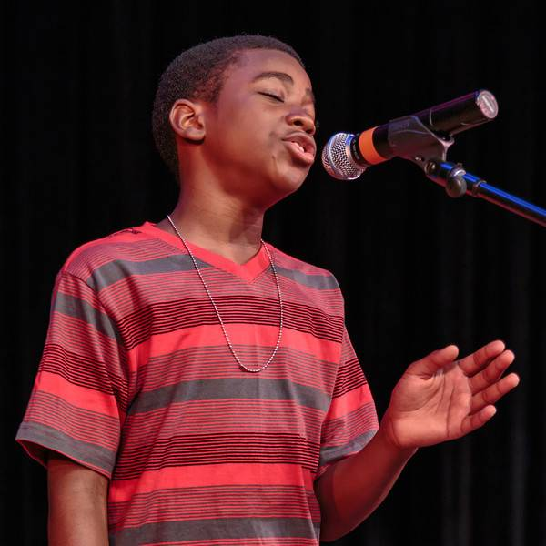 "DeVaughn Sims sings Rhianna's ""Stay"" during the 2013 Teen Talent Show and Competition at the Copley Theatre in downtown Aurora.Ron Langstaff"