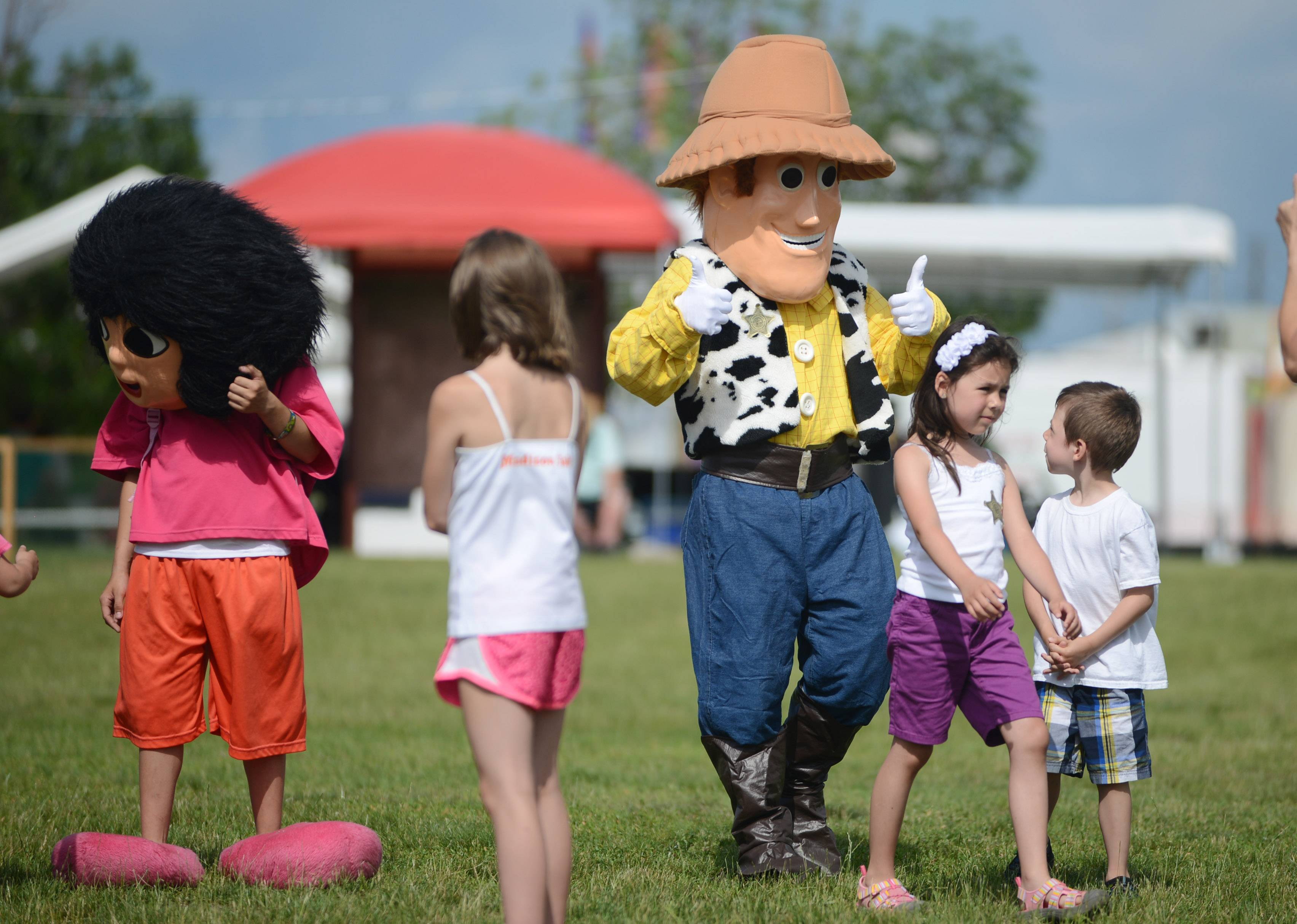 Costumed characters caught the eyes of little ones at last year's BeachFest in Round Lake Beach.