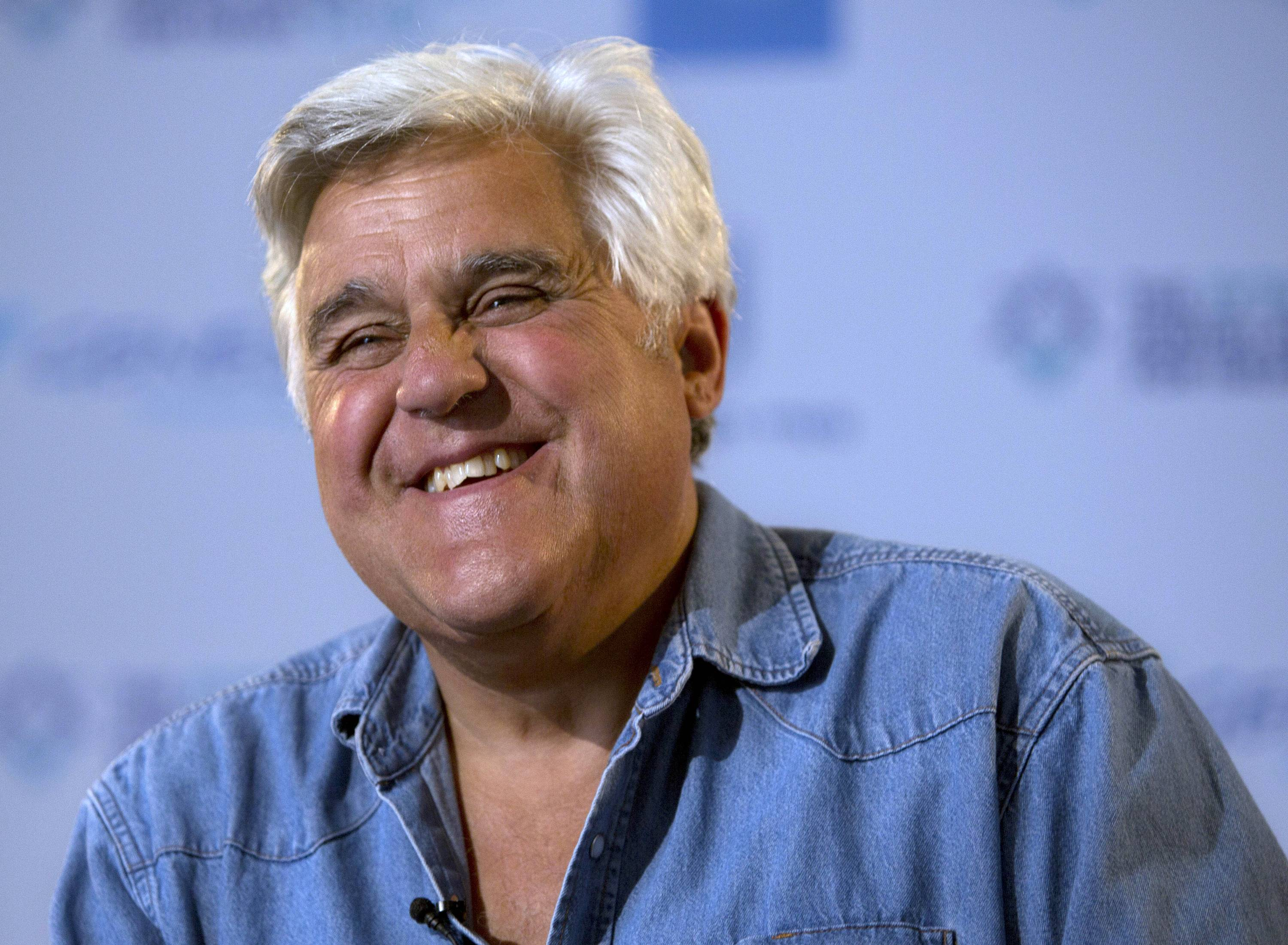 "Newly retired from ""The Tonight Show,"" Jay Leno will be honored with the Mark Twain Prize for American Humor Oct. 19 in Washington, D.C."