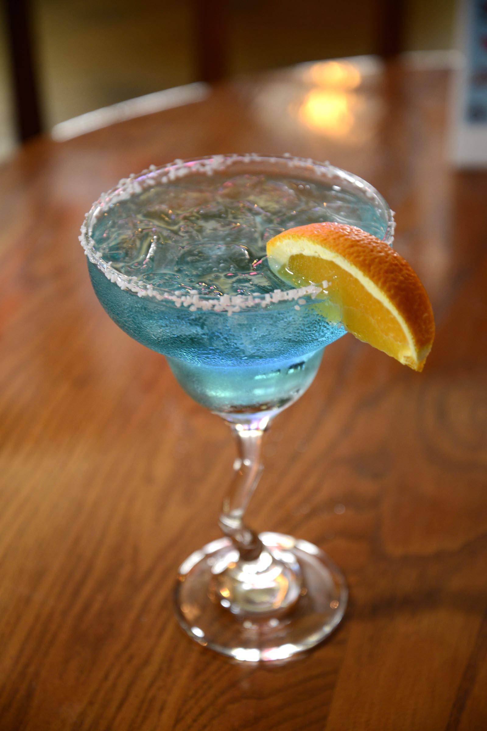 Cheer on the red, white and blue with a Deep Blue Sea martini at Claddaugh Irish Pub in Geneva.