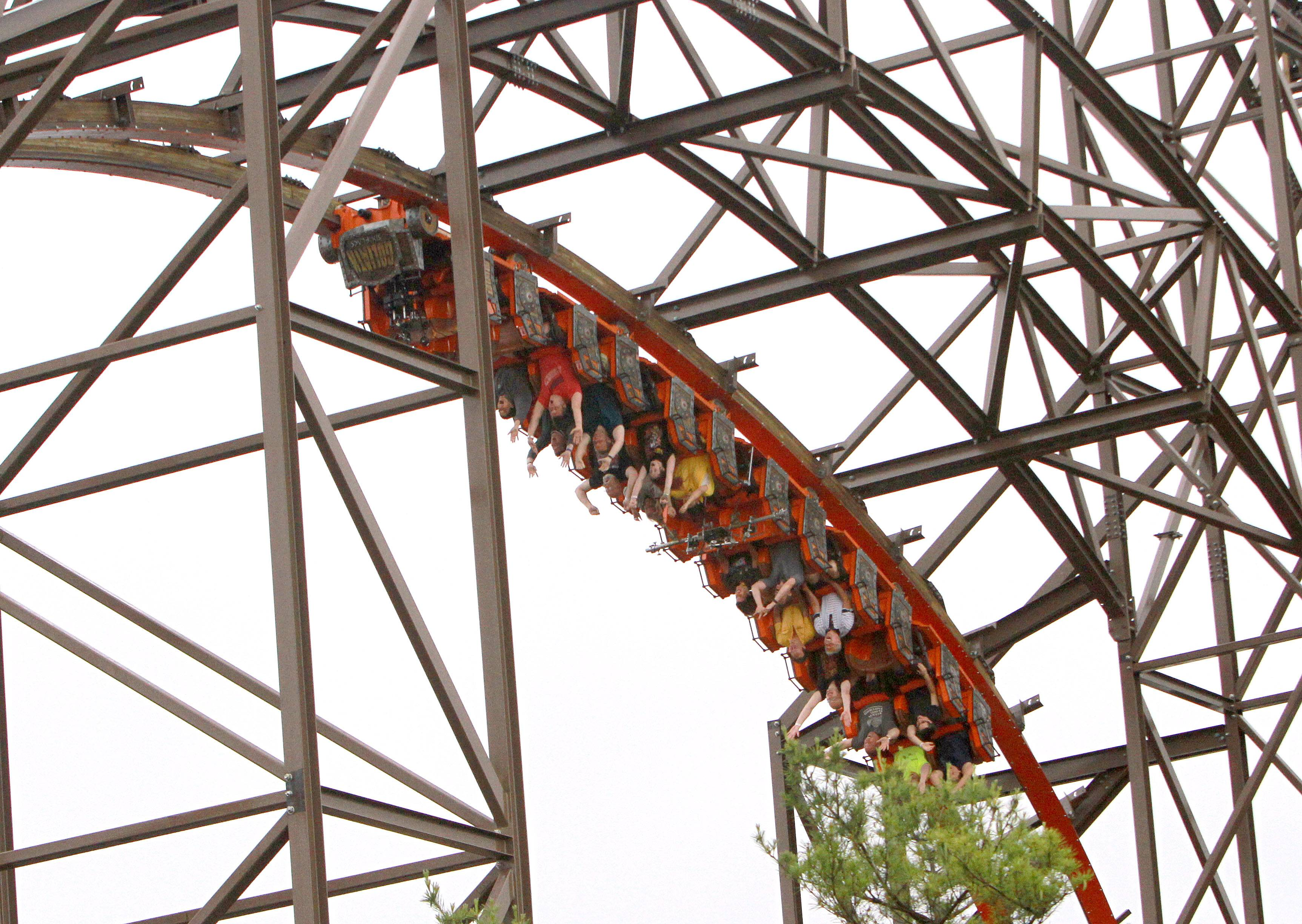 Goliath is the only wooden roller coaster to feature inversions. Six Flags Great America hosted a special preview of the ride Wednesday in Gurnee.