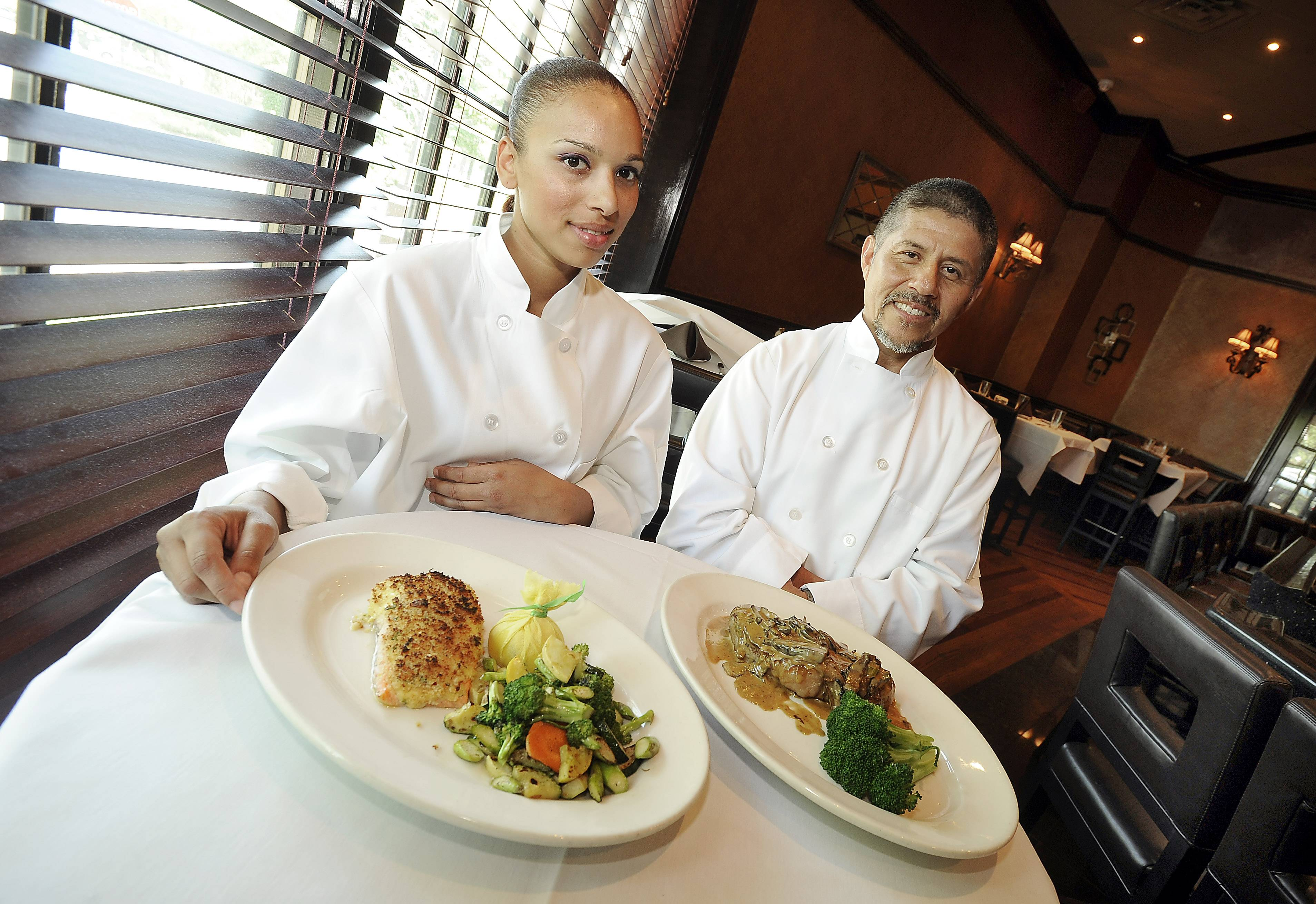 Sous chef Mireya and executive chef Javiel Villalobos show off some of their favorite dishes on the Chicago Prime Italian menu.
